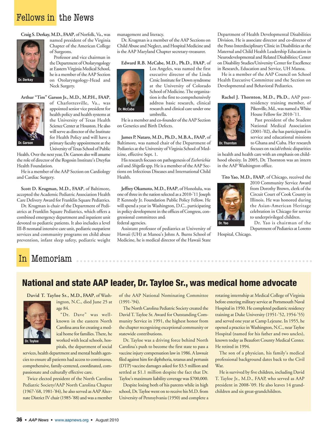 AAP News - August 2012 - page 35