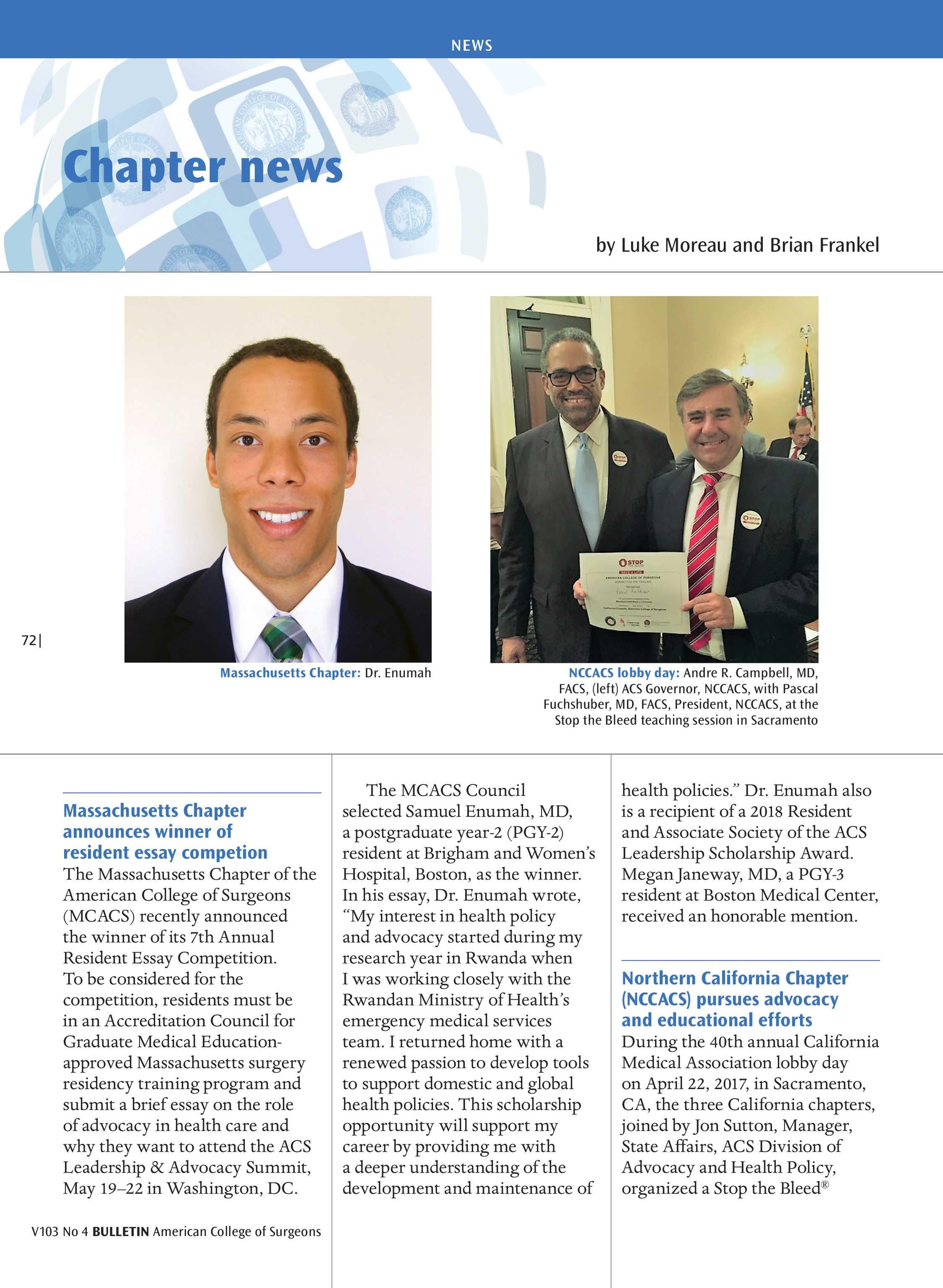 ACS Bulletin - April 2018 - page 72