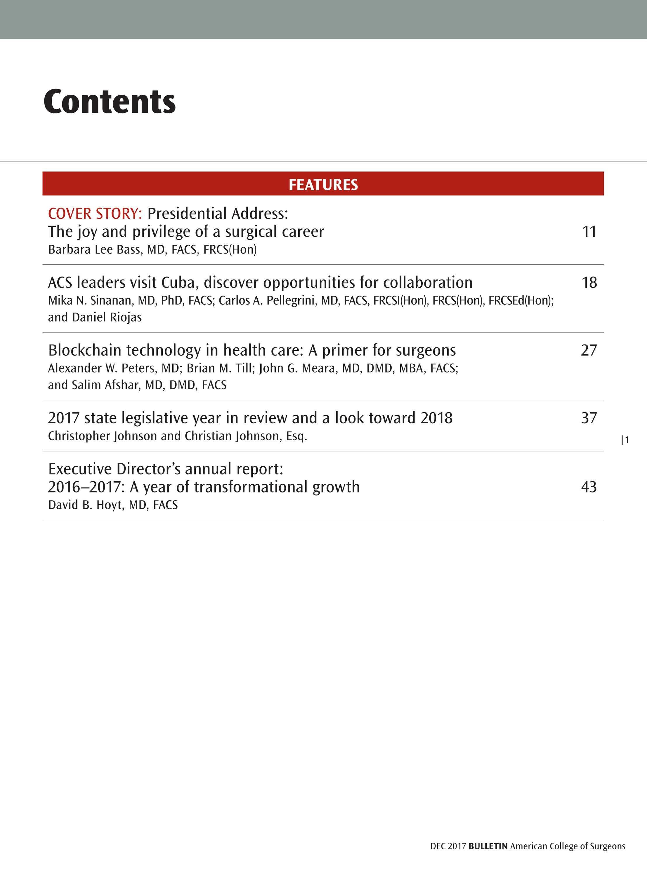 ACS Bulletin - December 2017 - page 1