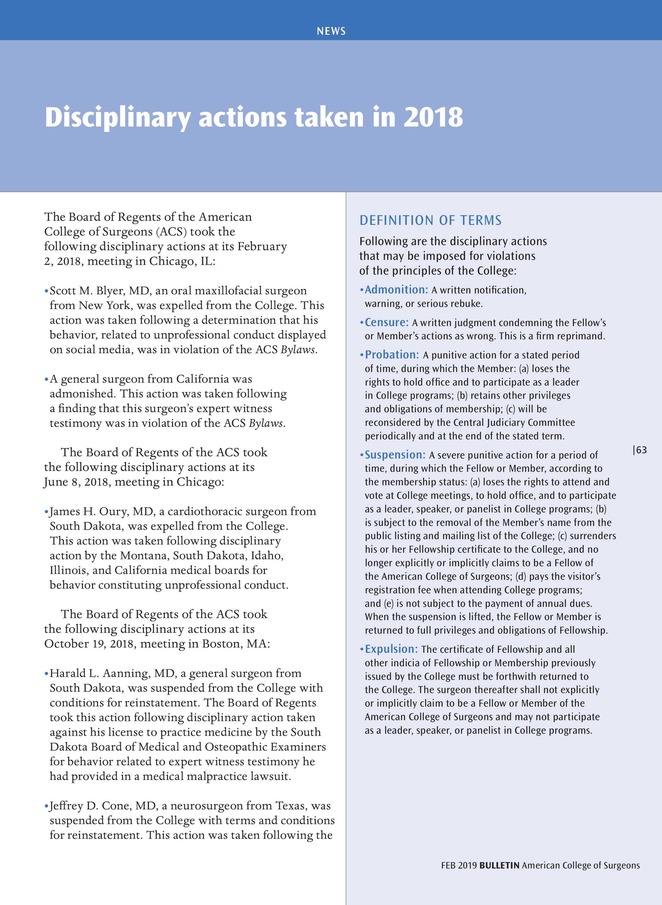 ACS Bulletin - February 2019 - page 63