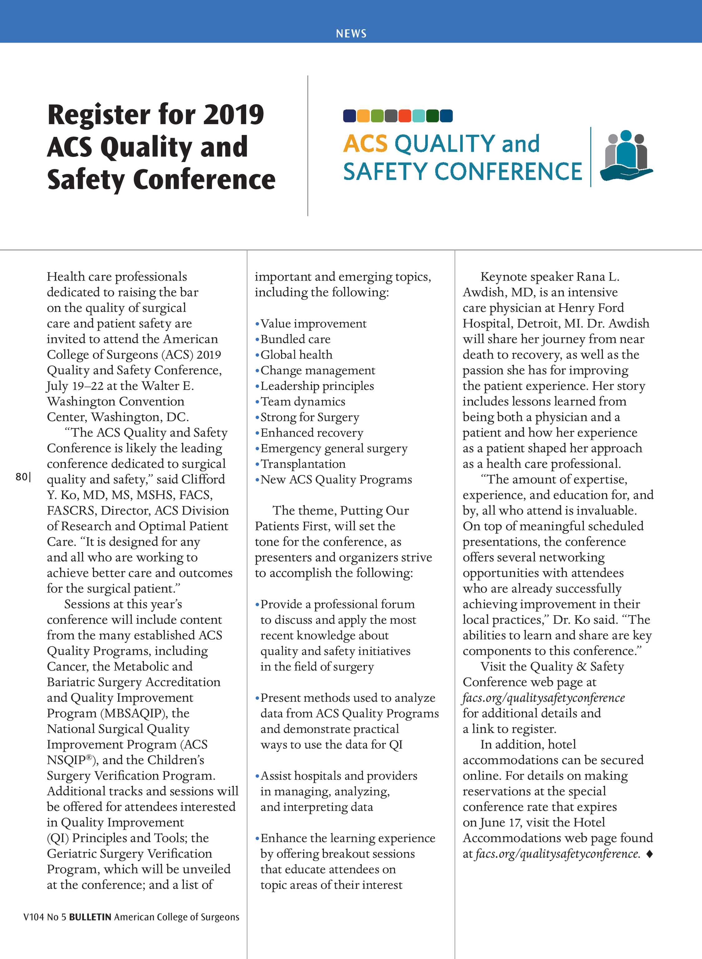 ACS Bulletin - May 2019 - page 80