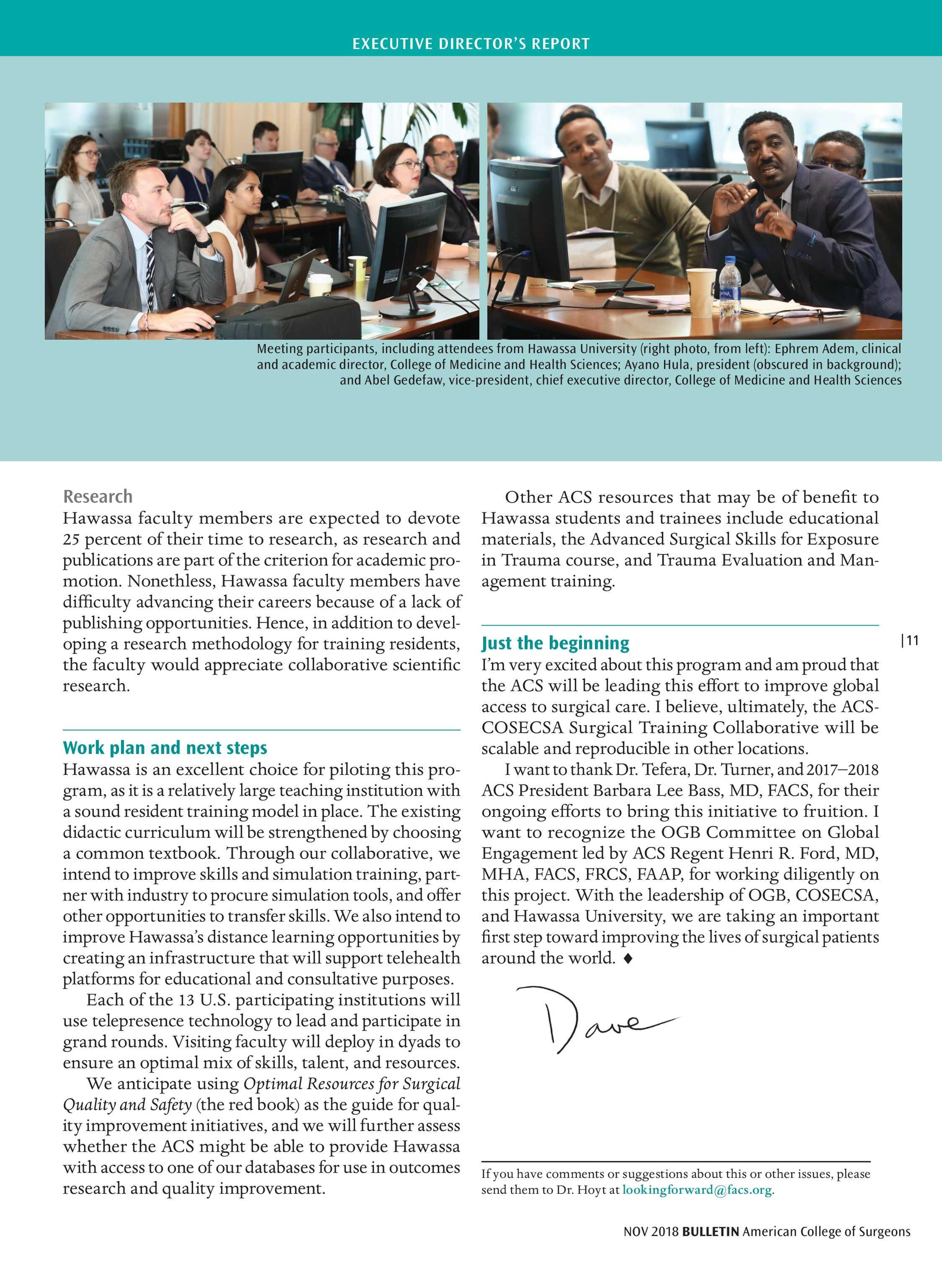ACS Bulletin - November 2018 - page 12