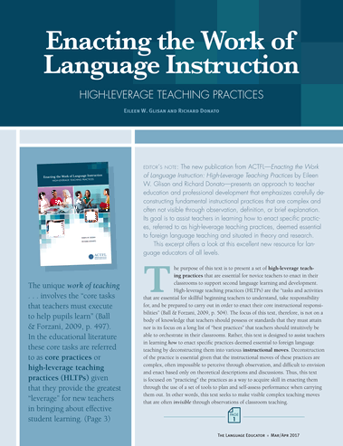 American Council On The Teaching Of Foreign Languages Marchapril