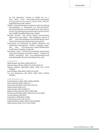 Journal of AHIMA - January 2015 - Page 52-53