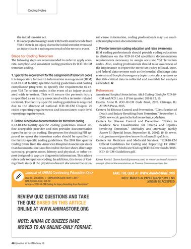 Journal of AHIMA - May 2016 - Page 48-49