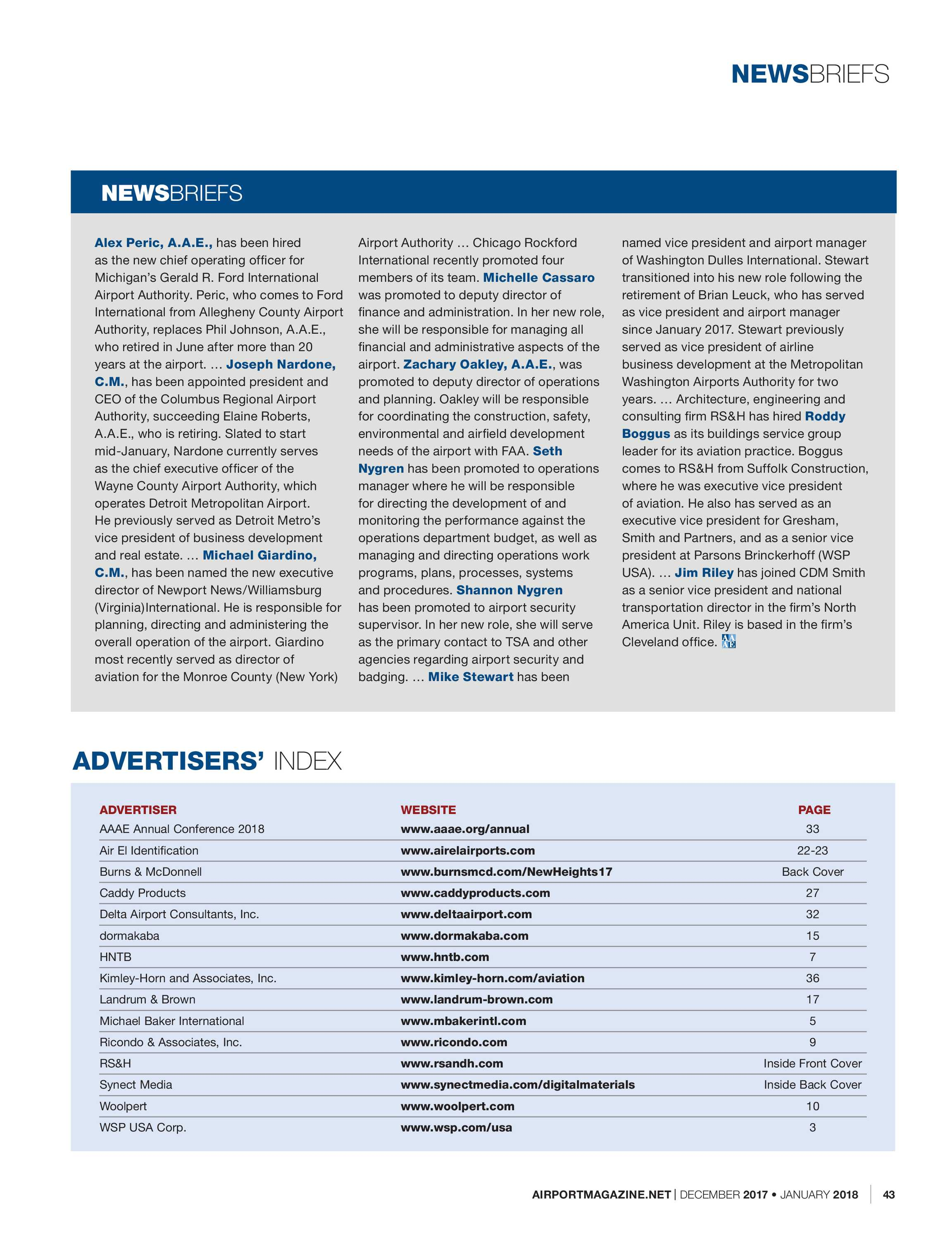 Airport Magazine - December 2017/January 2018 - page 43
