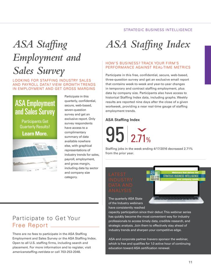 ASA Staffing Success - 2016 ASA Staffing Professional Catalog - Page 11