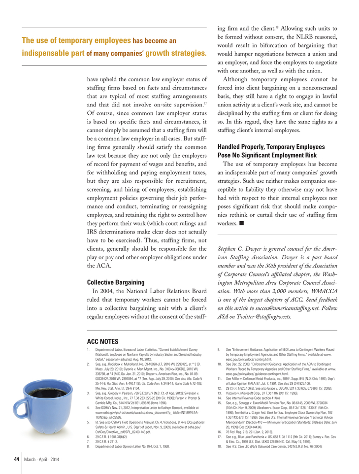ASA Staffing Success - March-April 2014 - Page 44