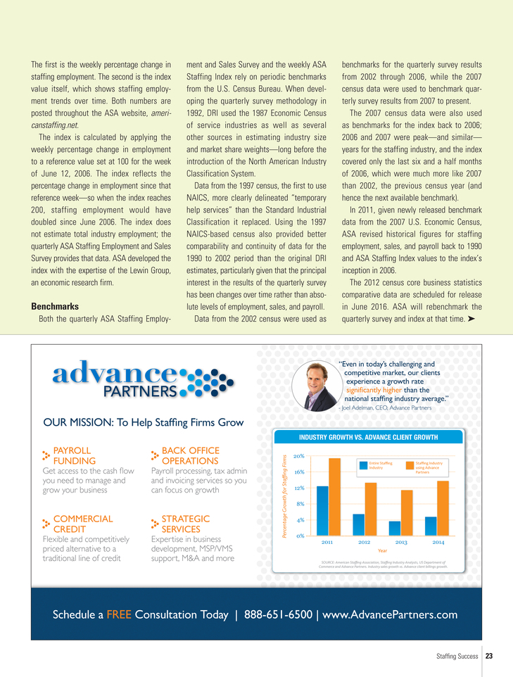 ASA Staffing Success Special Issue 2015 Page 23