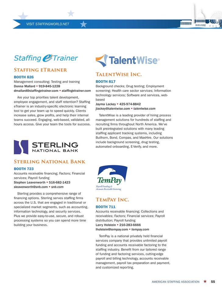 ASA Staffing Success - SW14 Advance Program - Page 55