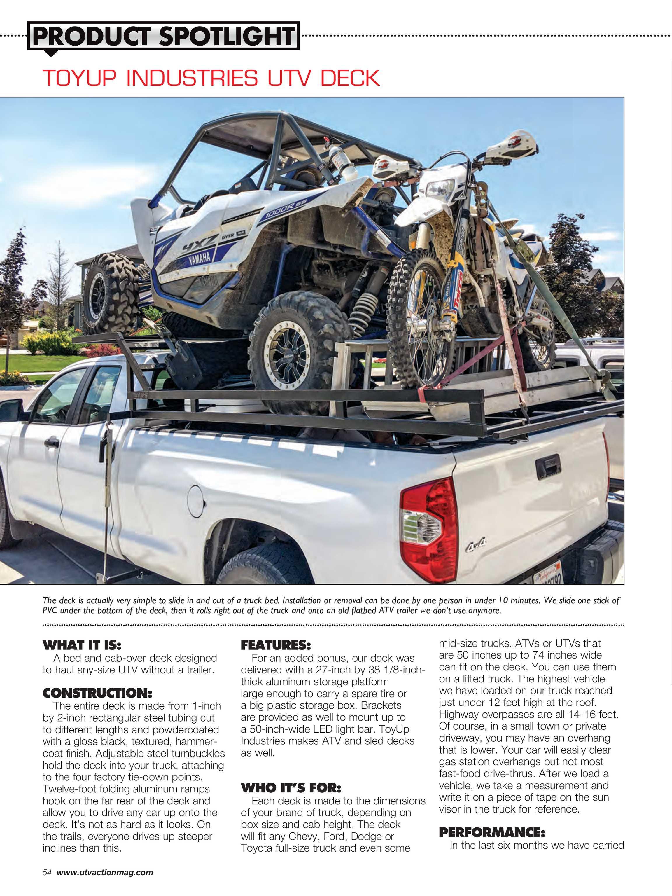 UTV Action Magazine - August, 2018 - page 54
