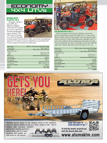 ATV/UTV Action Magazine - July 2013 - Page 58-59