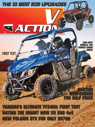 ATV/UTV Action Magazine - JULY 2015 - Front Cover