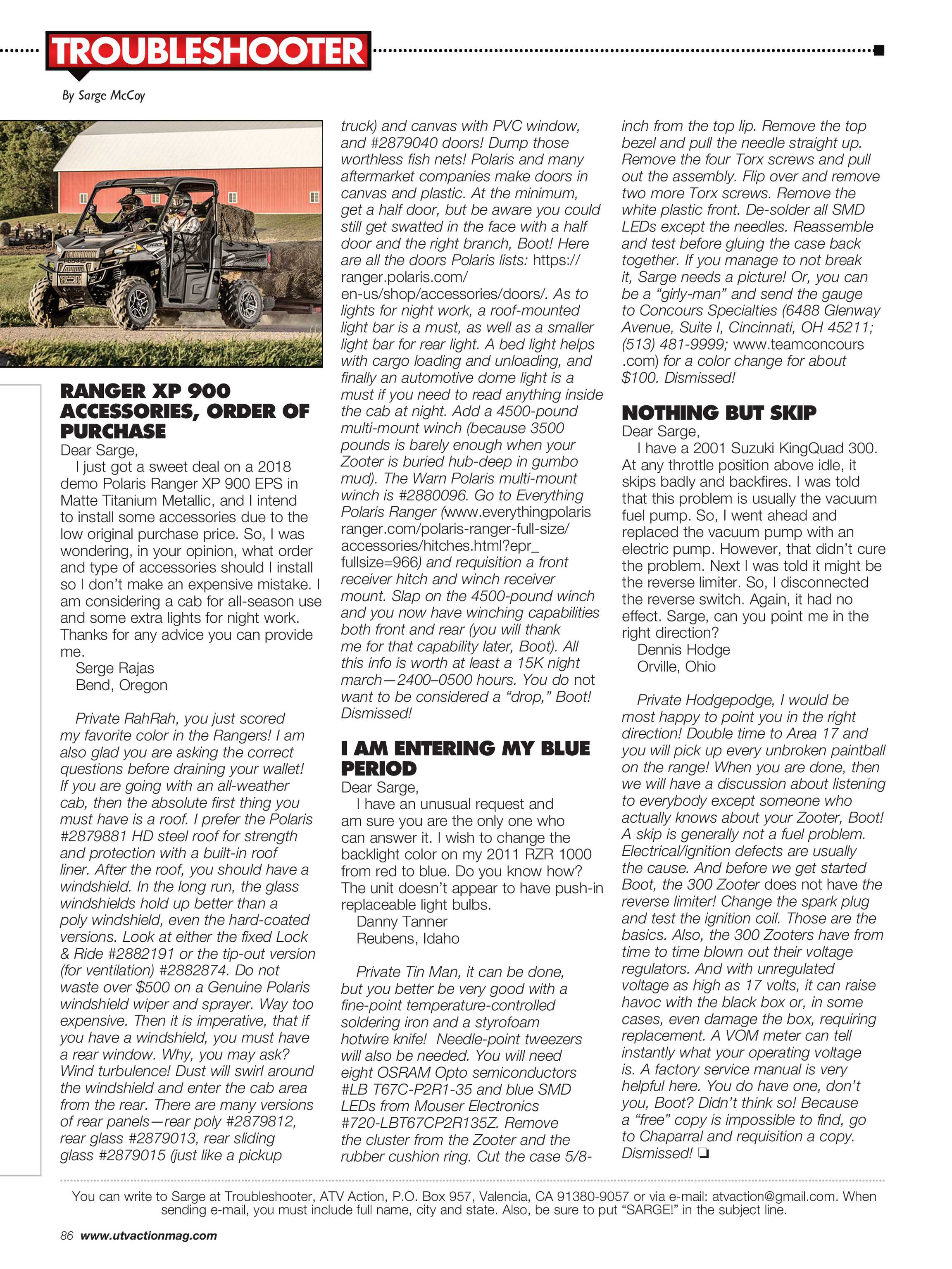 UTV Action Magazine - March 2019 - page 86