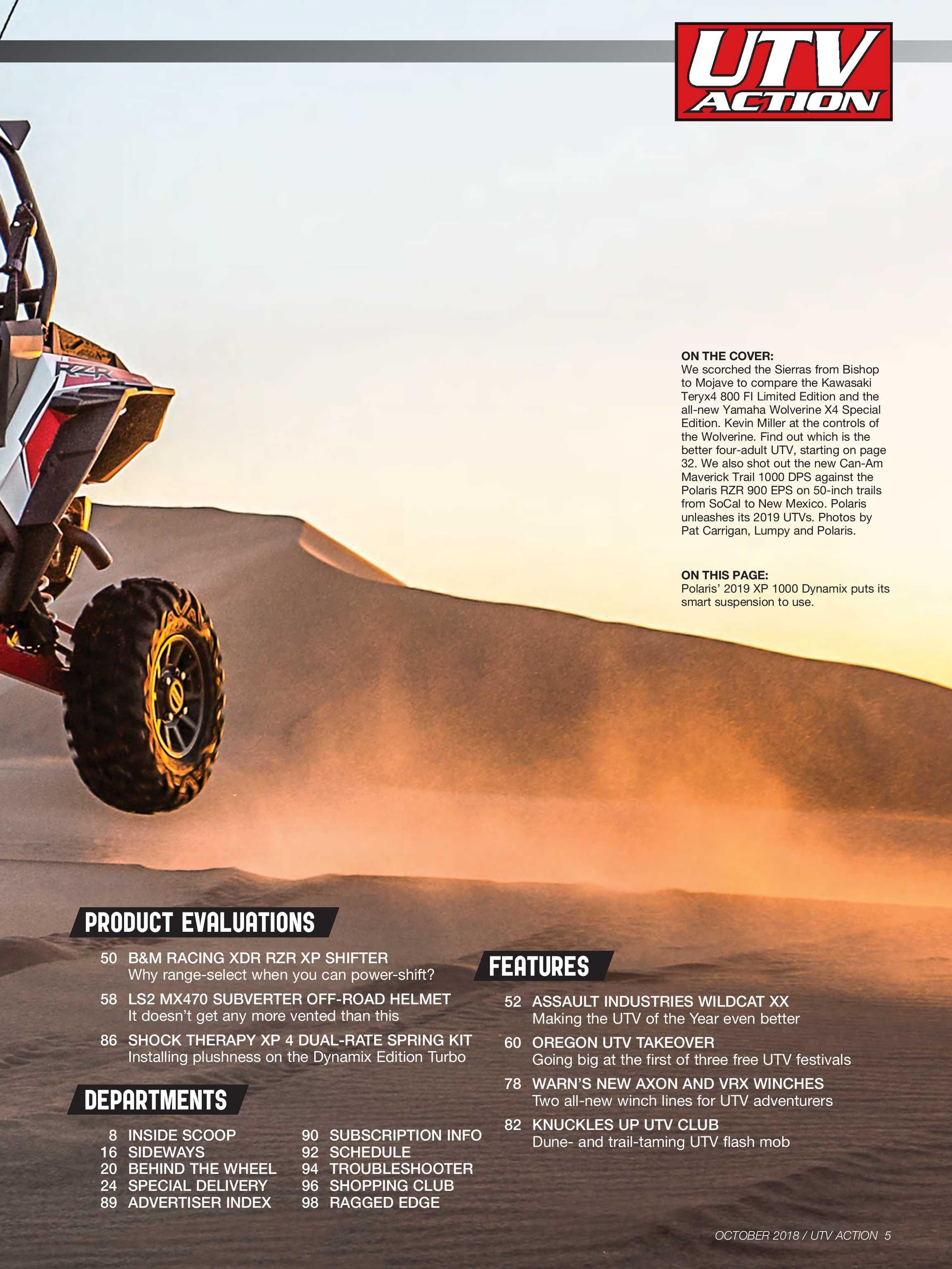 UTV Action Magazine - October 2018 - page 5