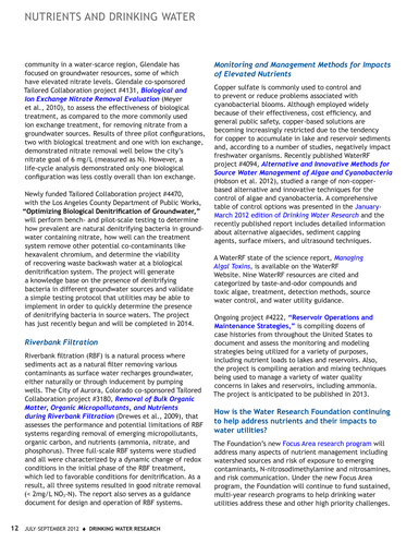 Drinking Water Research - July-September 2012 Volume 22, Number 3