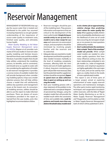 Advances in Water Research - January-March 2014, Volume 24