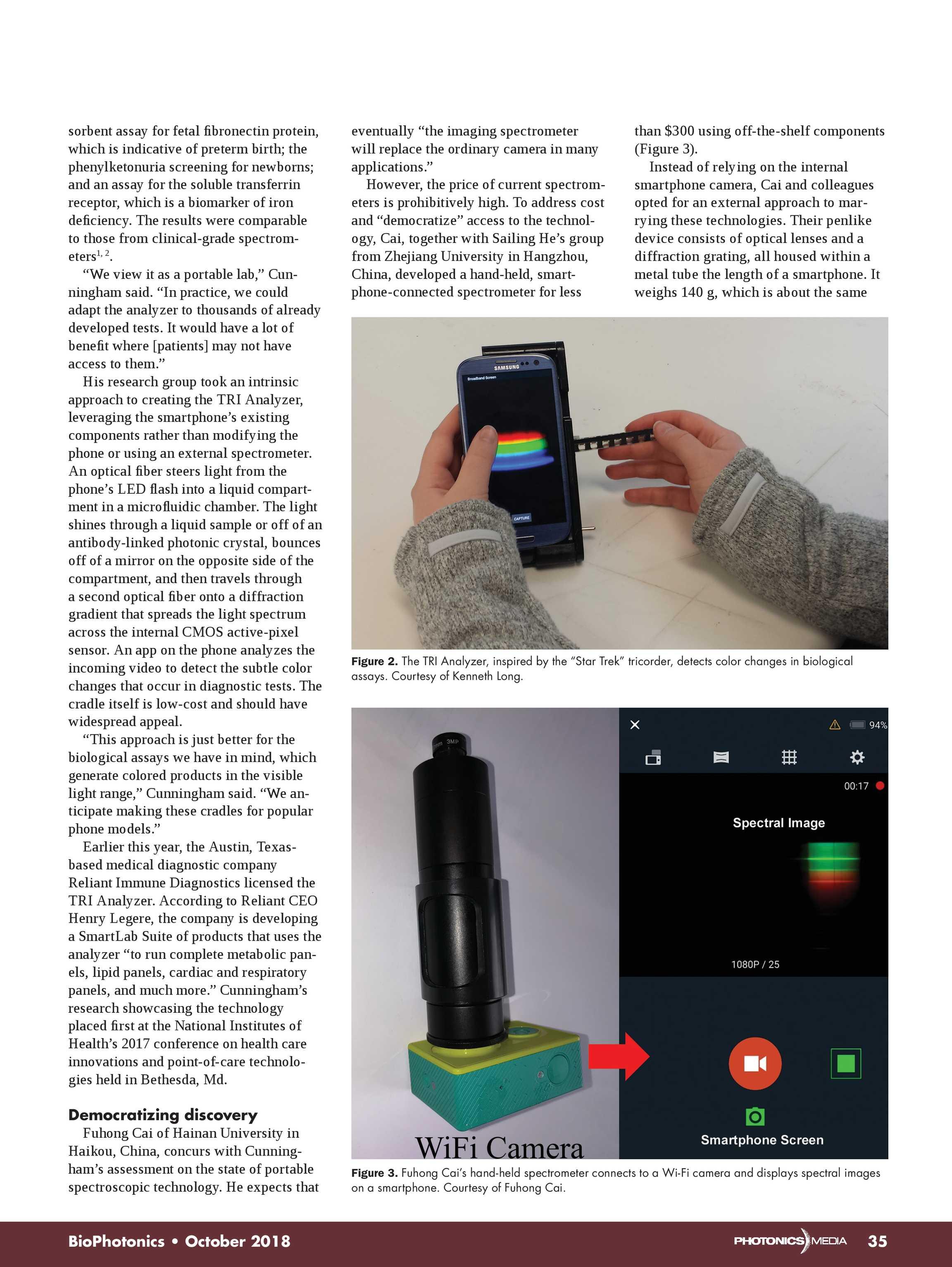 Bio Photonics - October 2018 - page 34