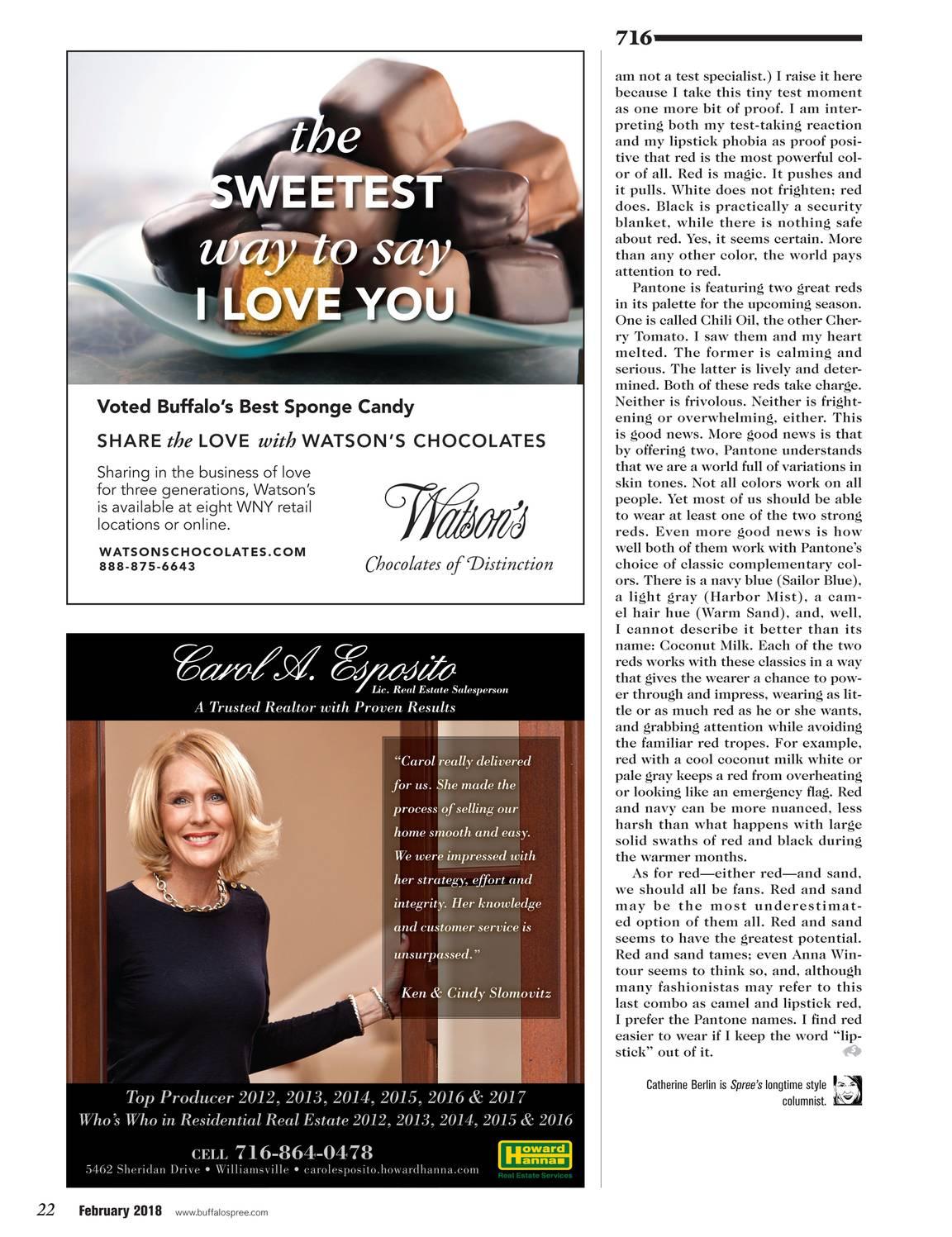 3056637e089 Buffalo Spree - February 2018 - page 23