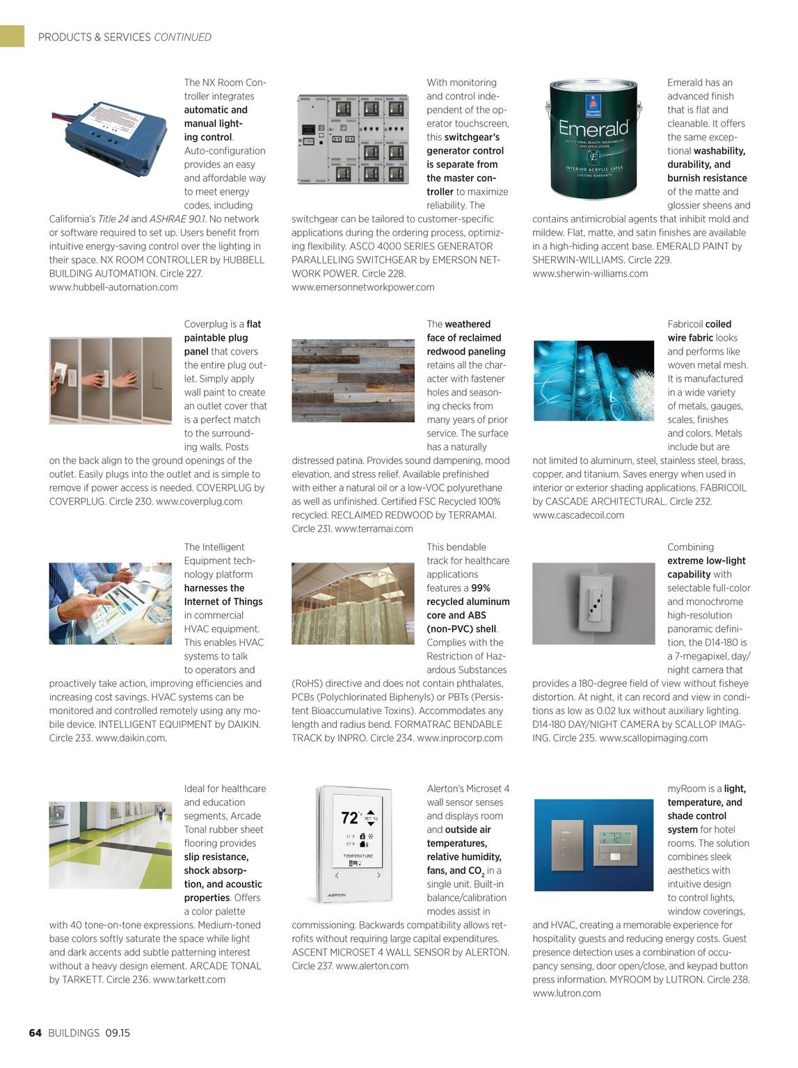 Buildings Magazine - September 2015 - page 64