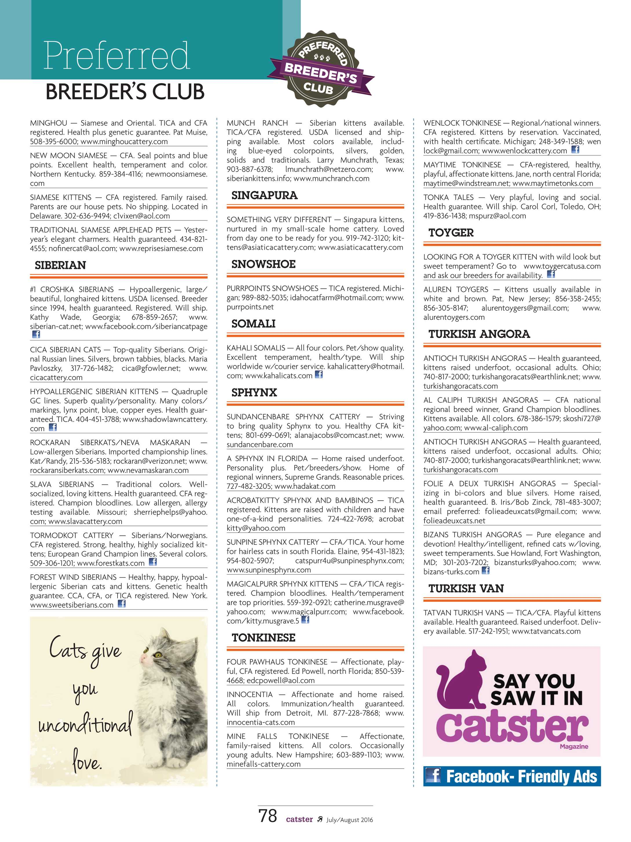 Catster Magazine - July/August 2016 - page 78