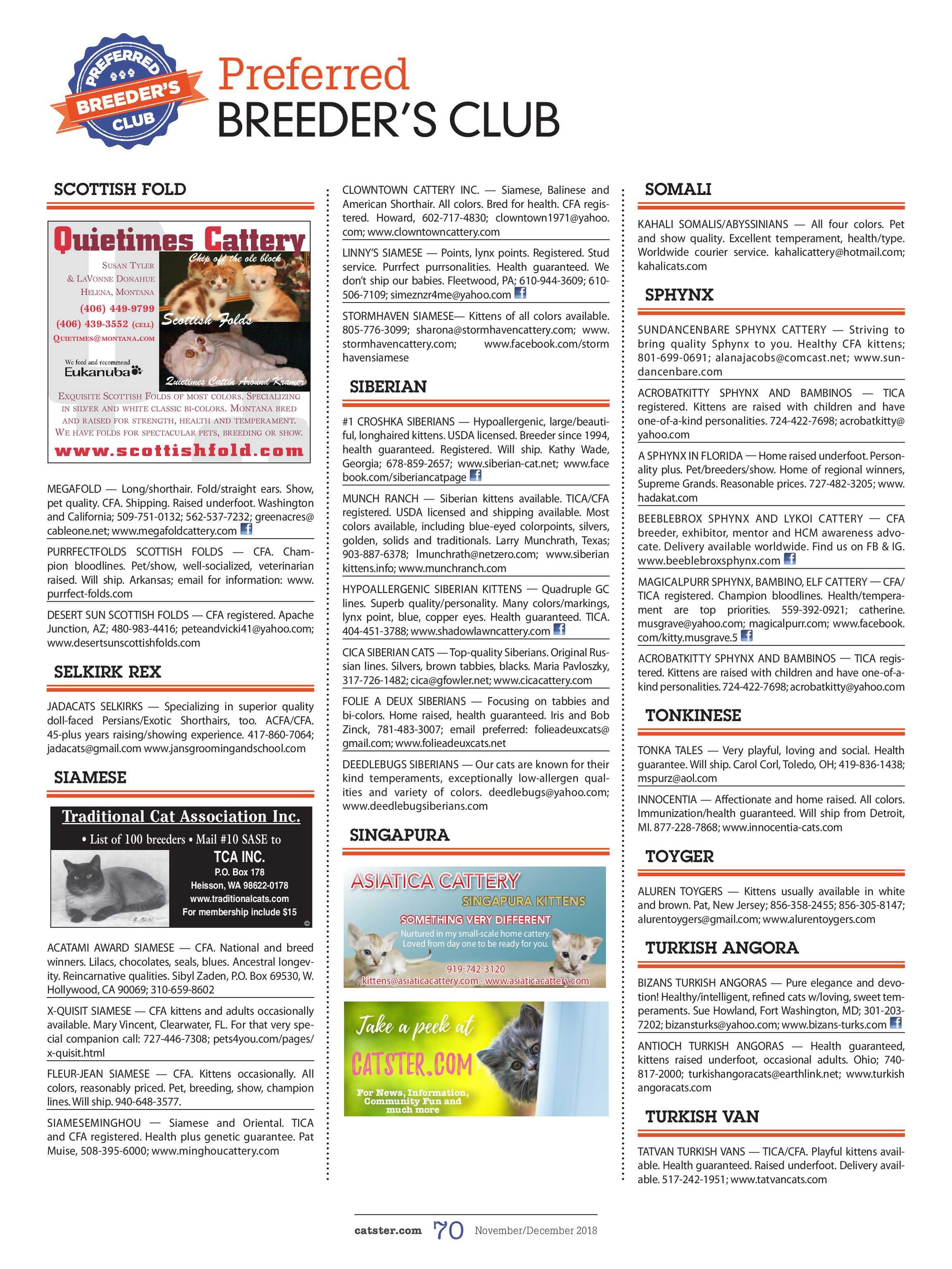 Catster Magazine - November/December 2018 - page 71