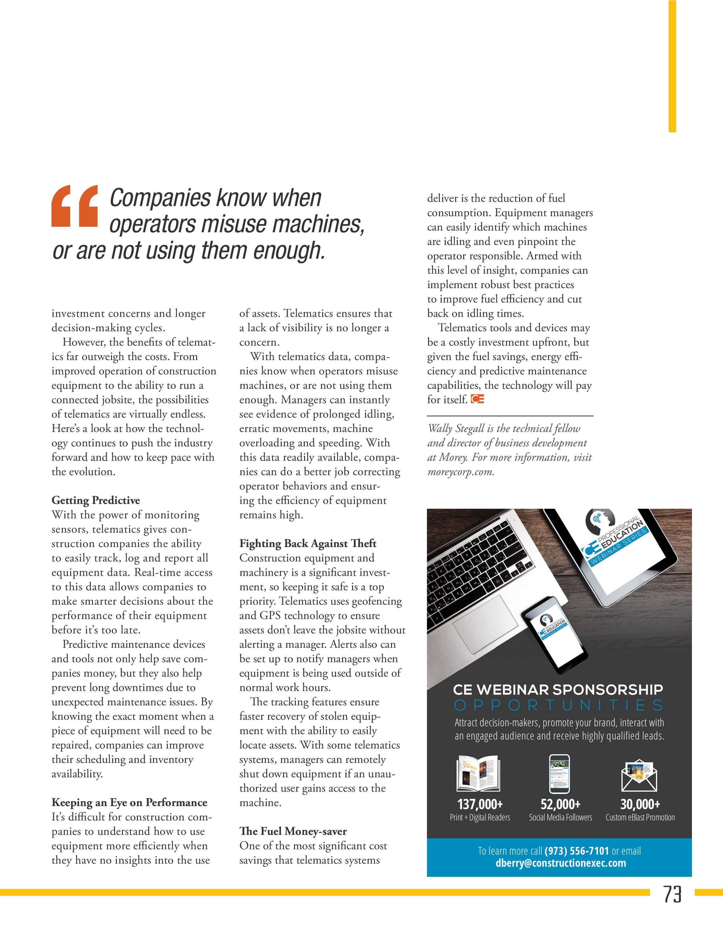 Construction Executive Magazine - July/August 2018 - page 73