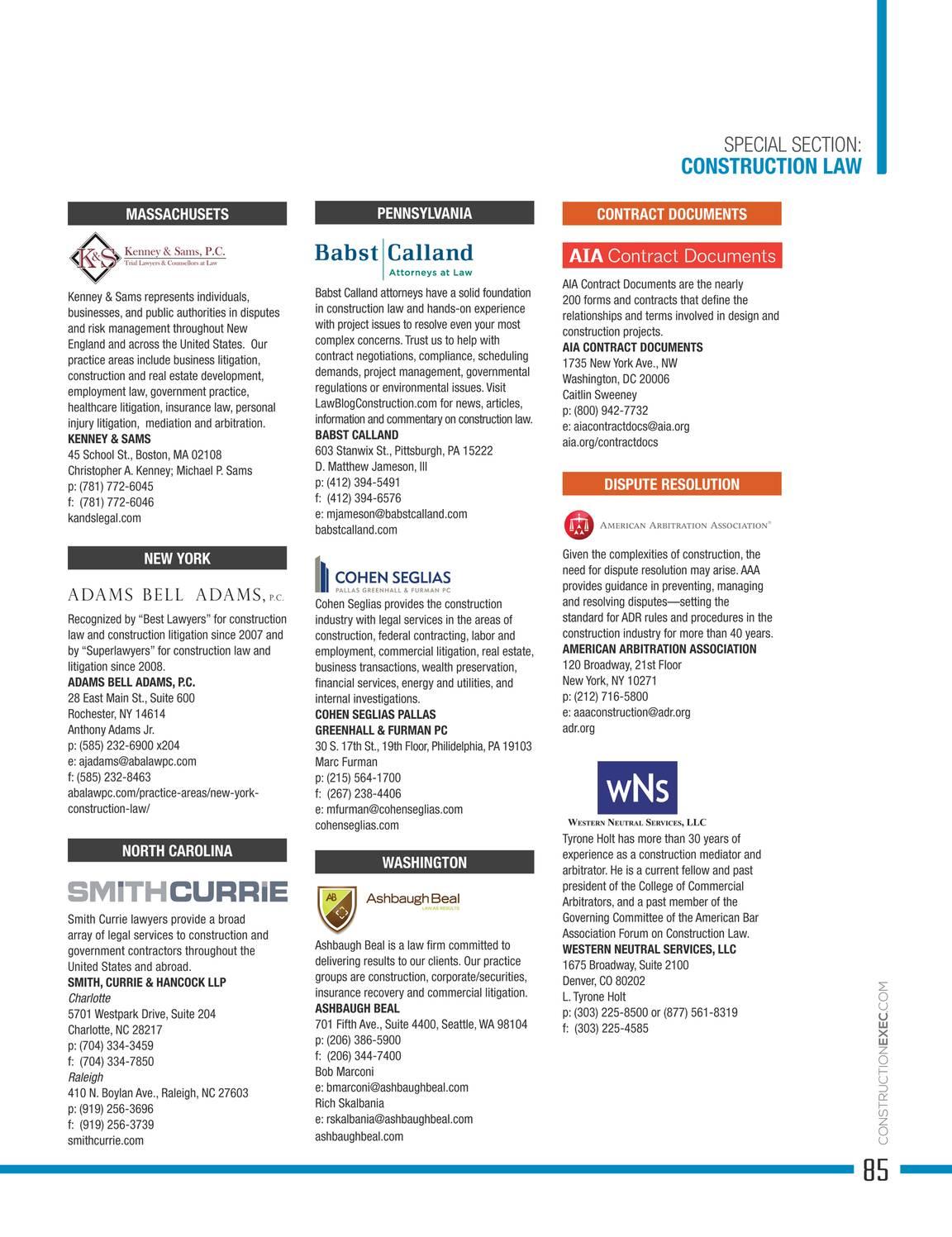 Construction Executive Magazine - June 2017 - page 84