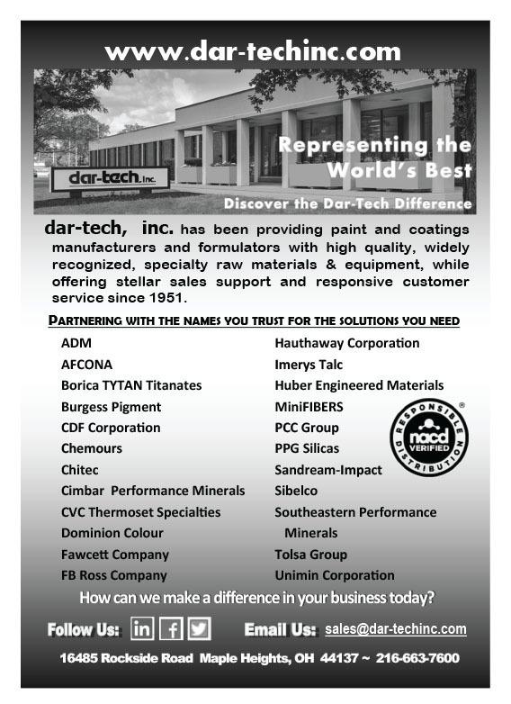 CoatingsTech - July 2018 - 2018 COATINGSTECH Distributors Guide