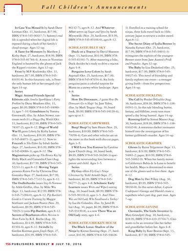 Publishers Weekly July 18 2016 Page 156 157