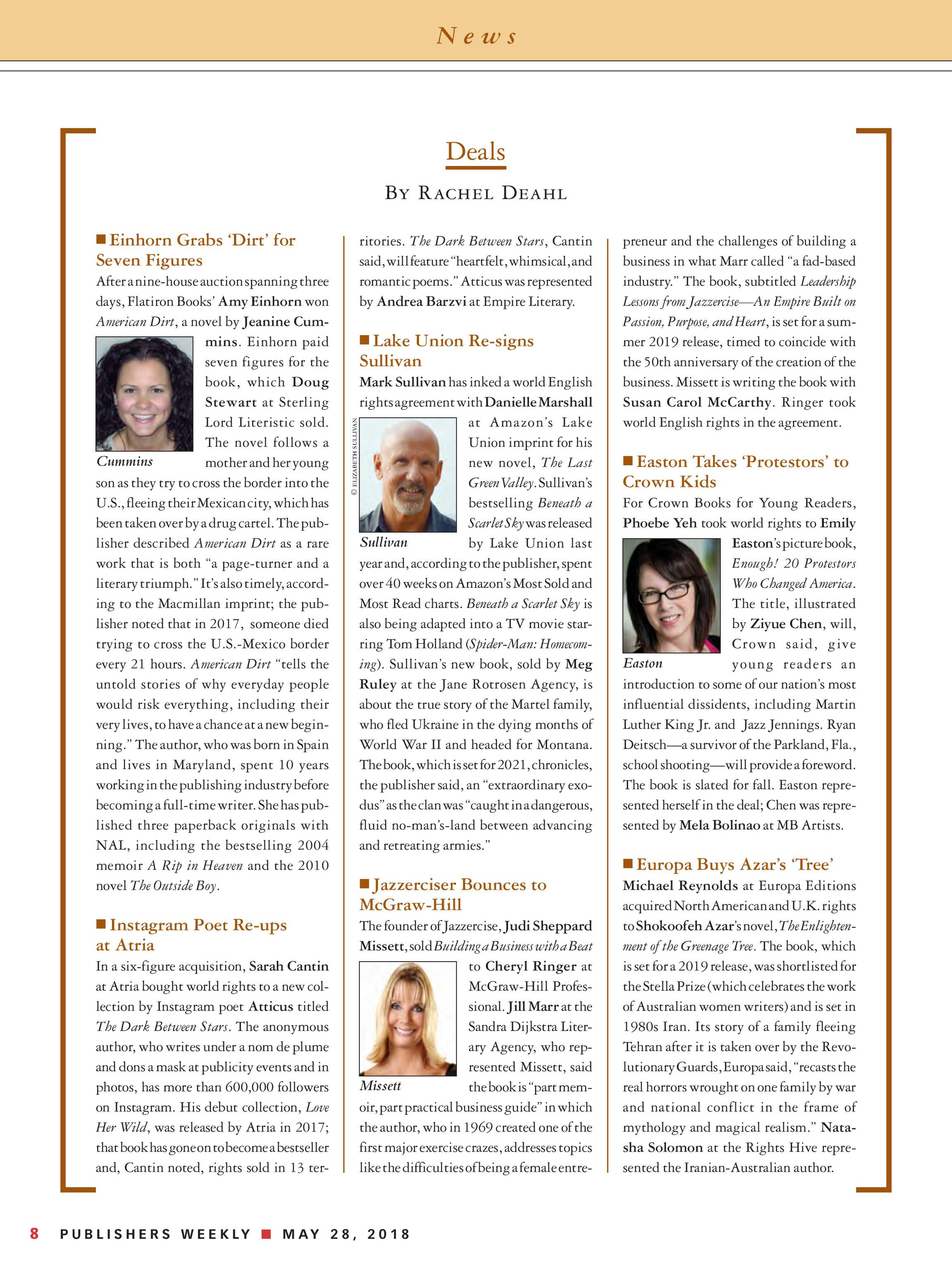 Publishers Weekly May 28 2018 Page 8