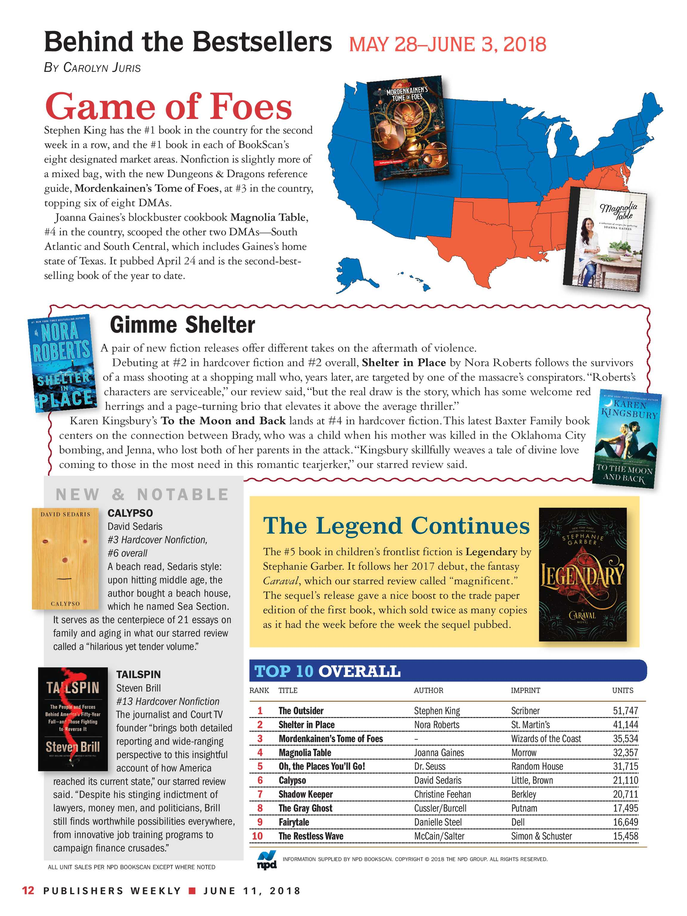 Publishers Weekly - June 11, 2018 - page 6