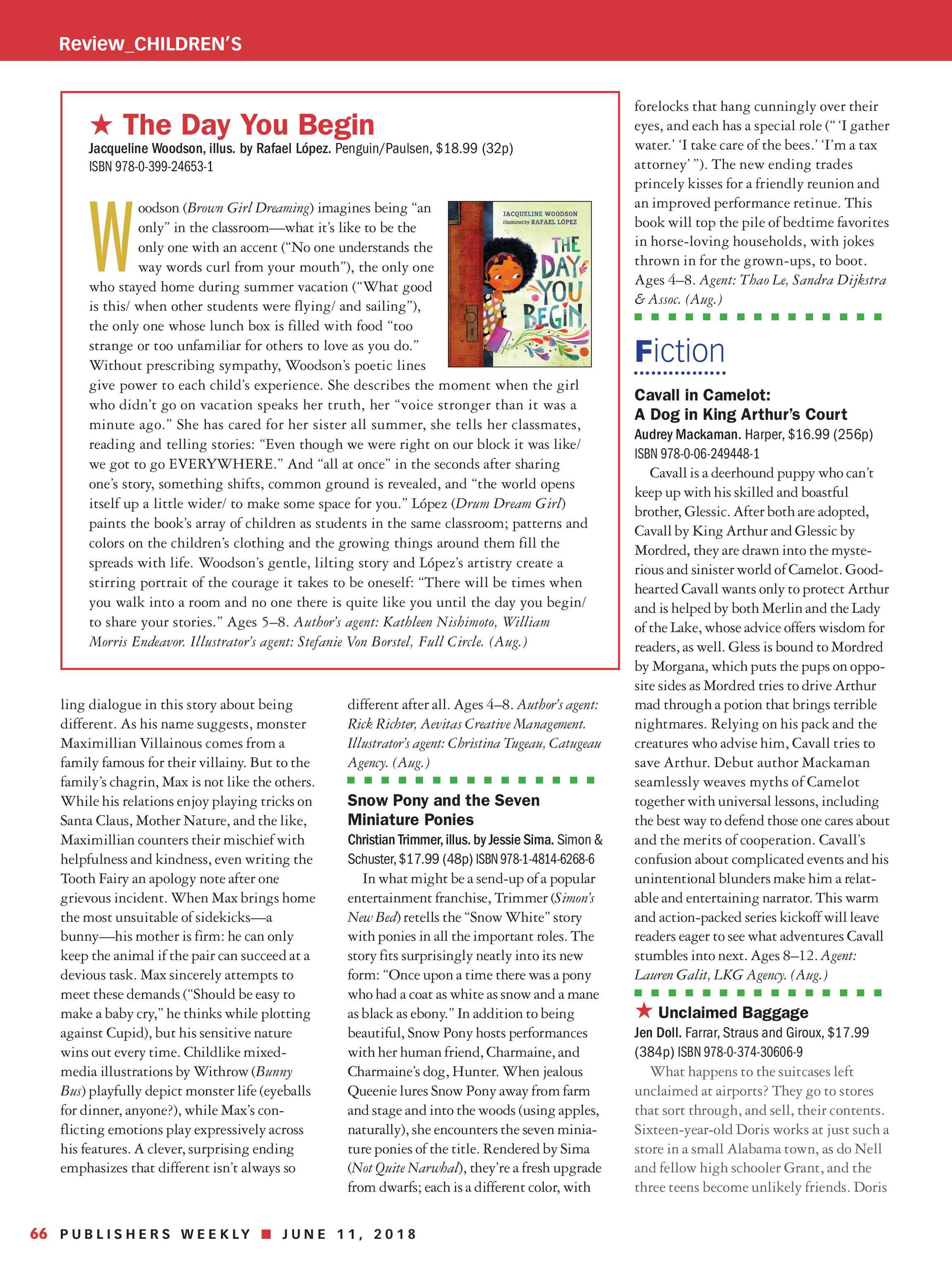 Publishers Weekly - June 11, 2018 - page 66