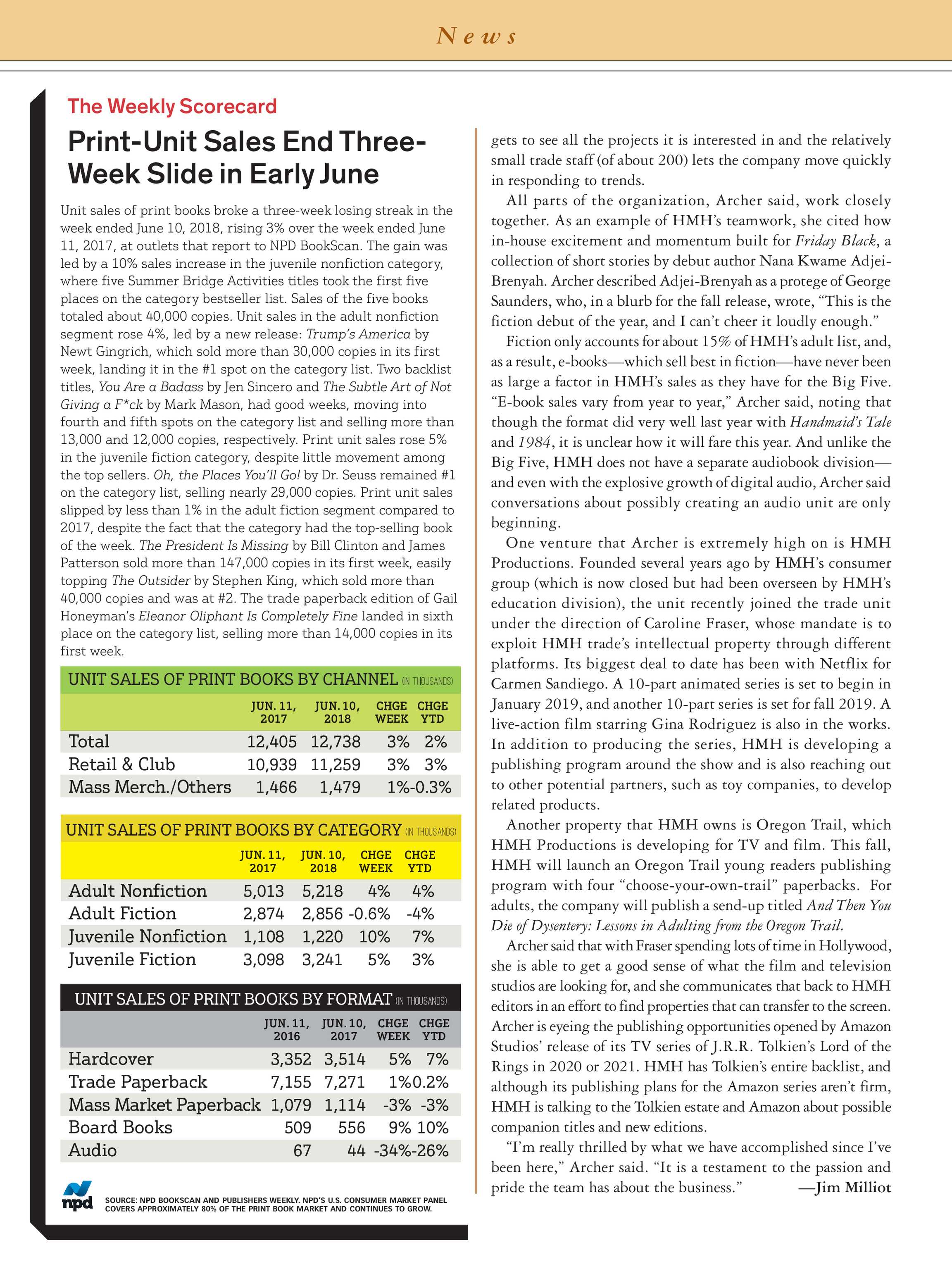 Publishers Weekly - June 18, 2018 - page 8