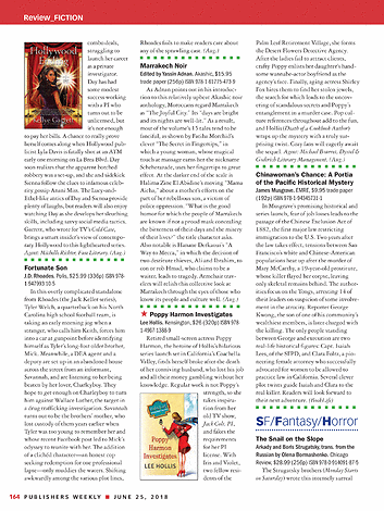 Publishers Weekly - June 25, 2018 - page 164