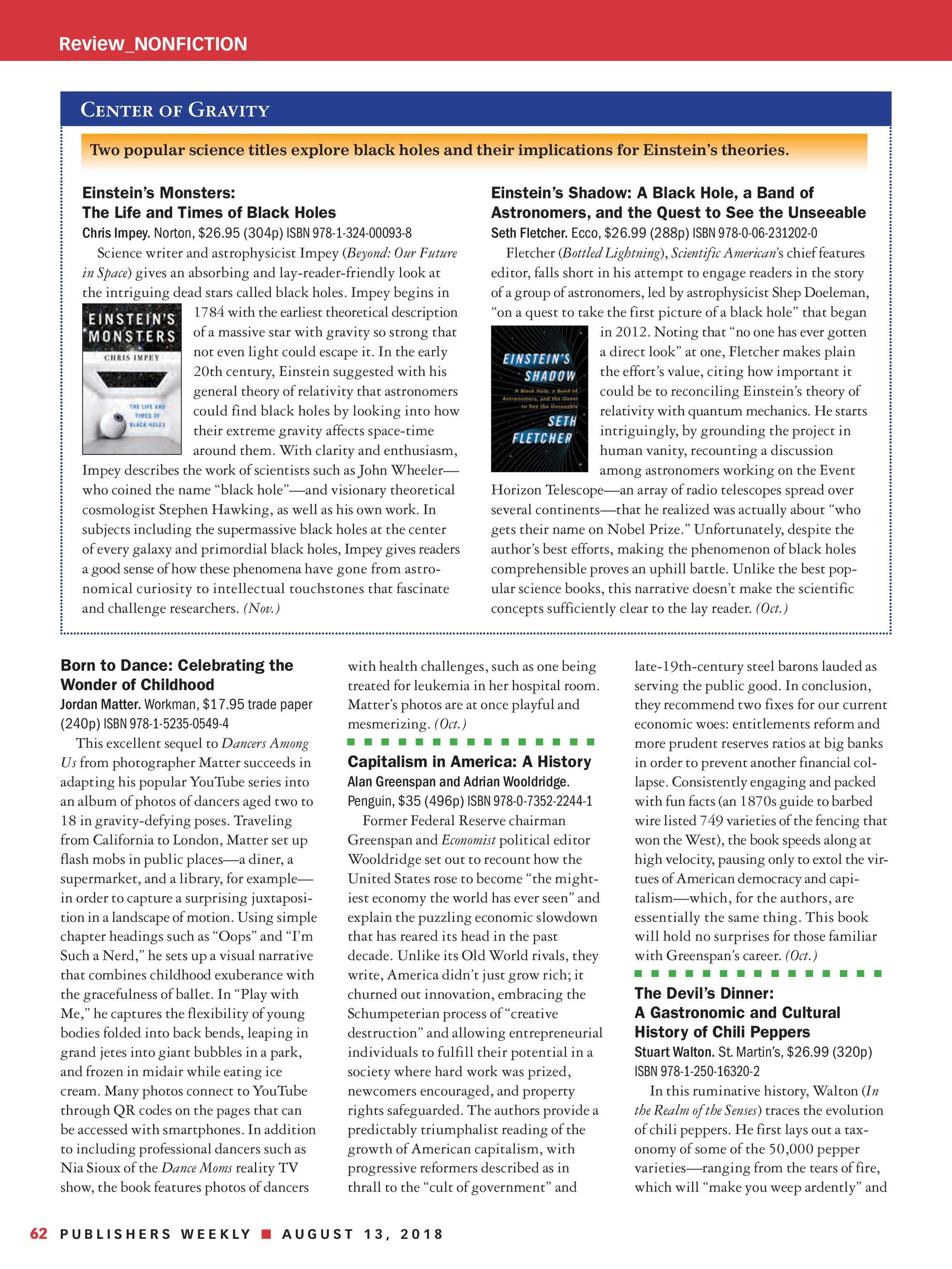 Publishers Weekly - August 13, 2018 - page 56