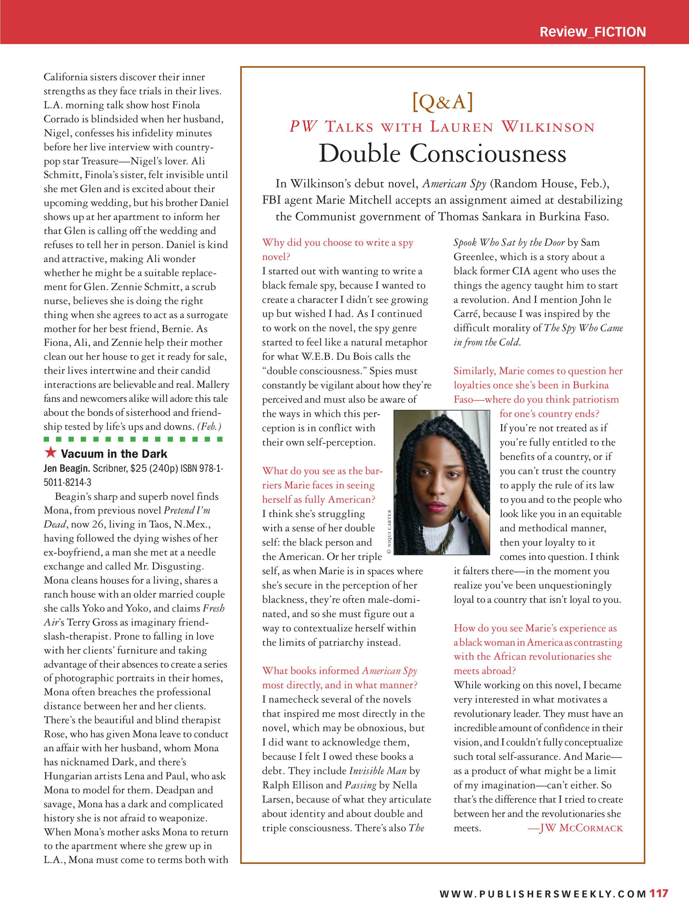 Publishers Weekly - December 10, 2018 - page 117