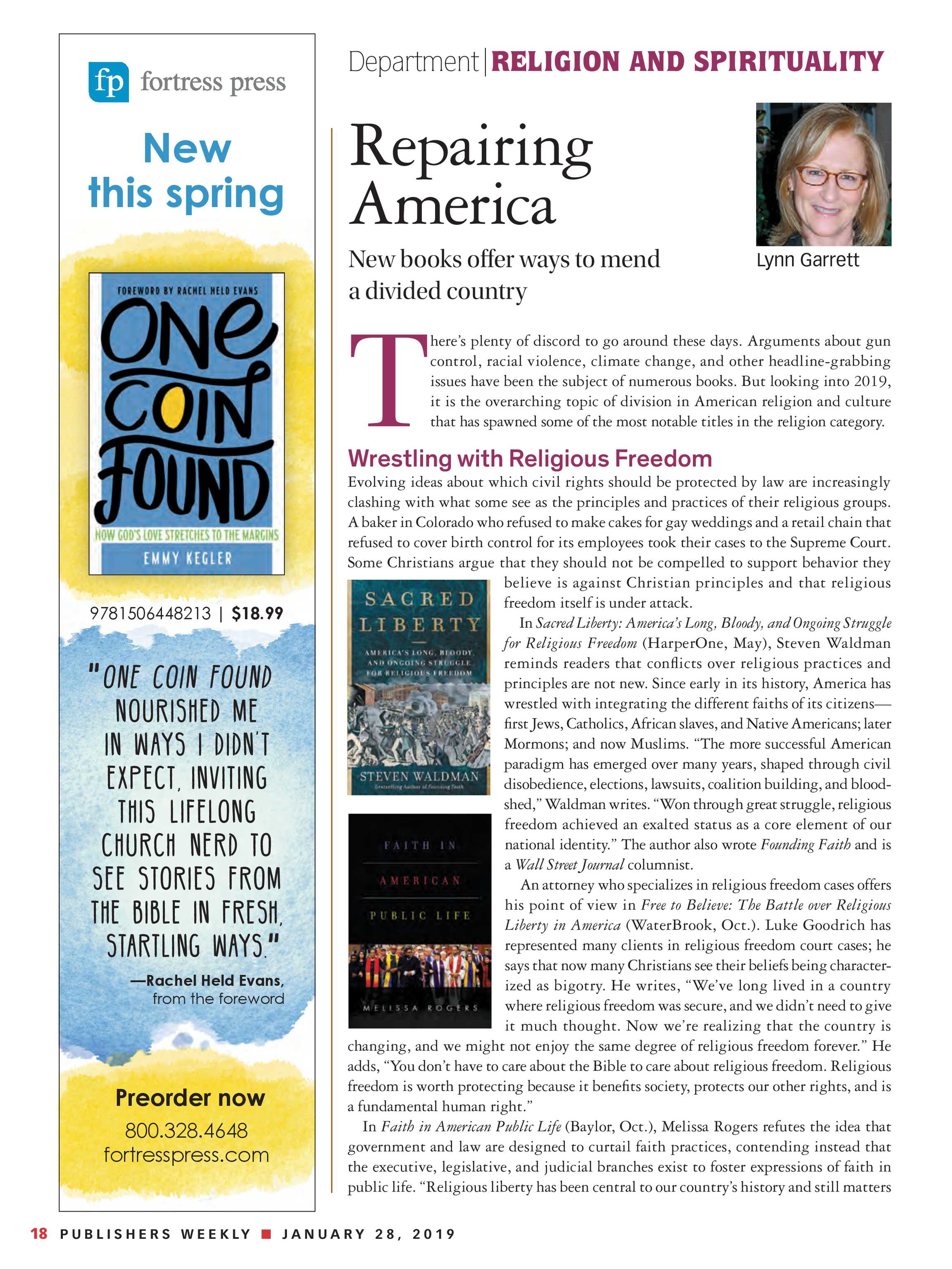 Publishers Weekly - January 28, 2019 - page 18