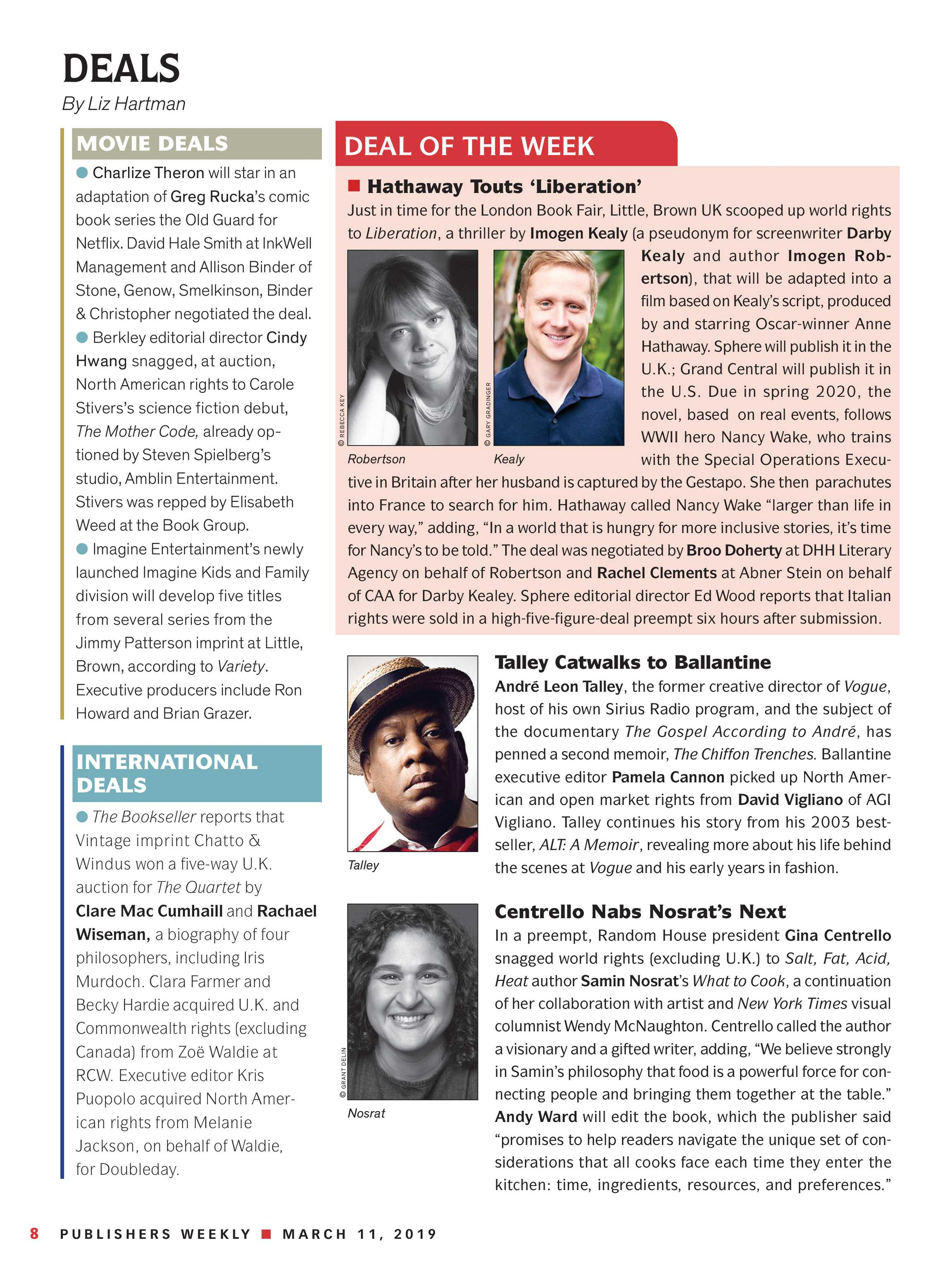 Publishers Weekly - March 11, 2019 - page 10