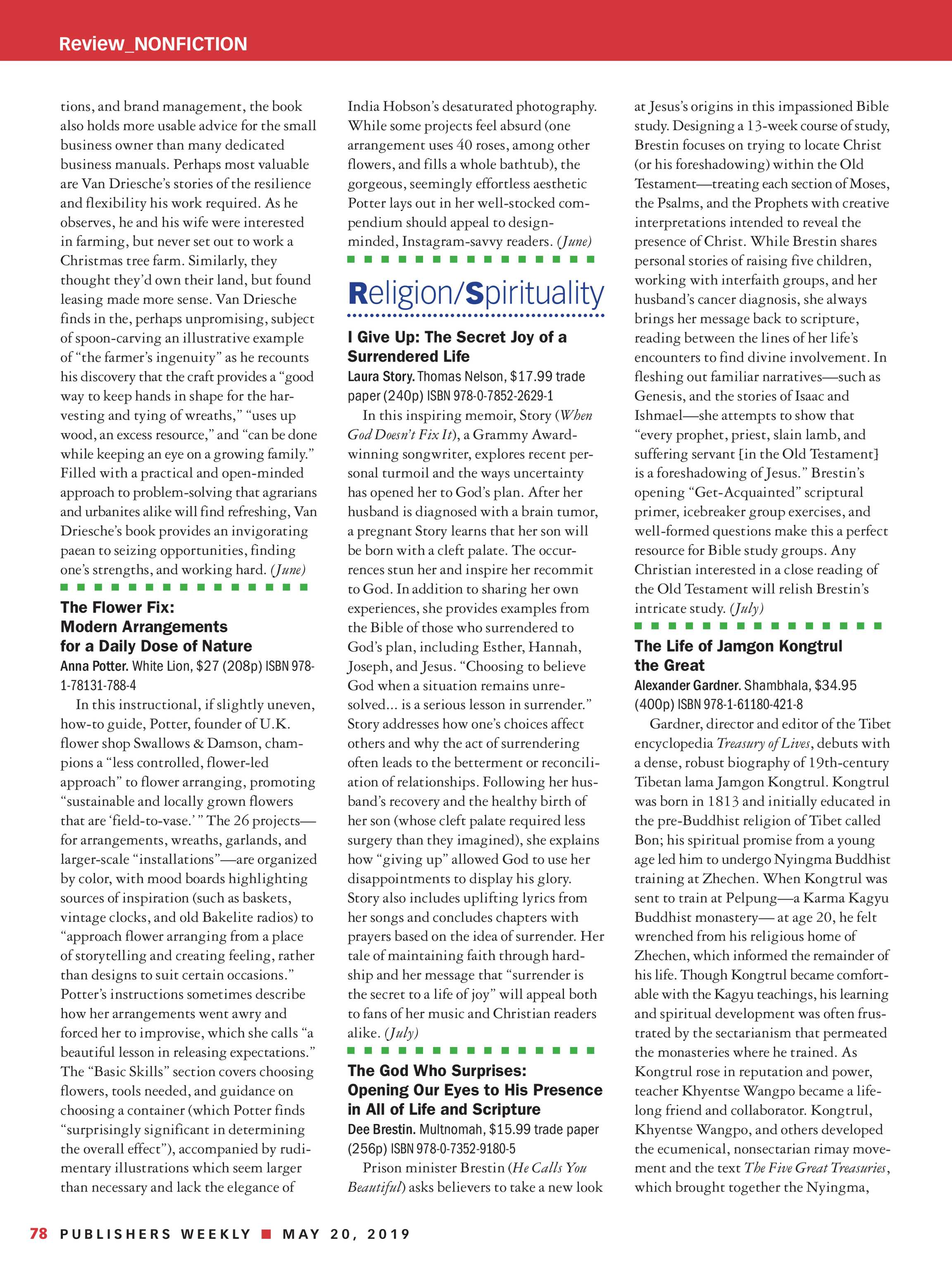 Publishers Weekly - May 20, 2019 - page 78