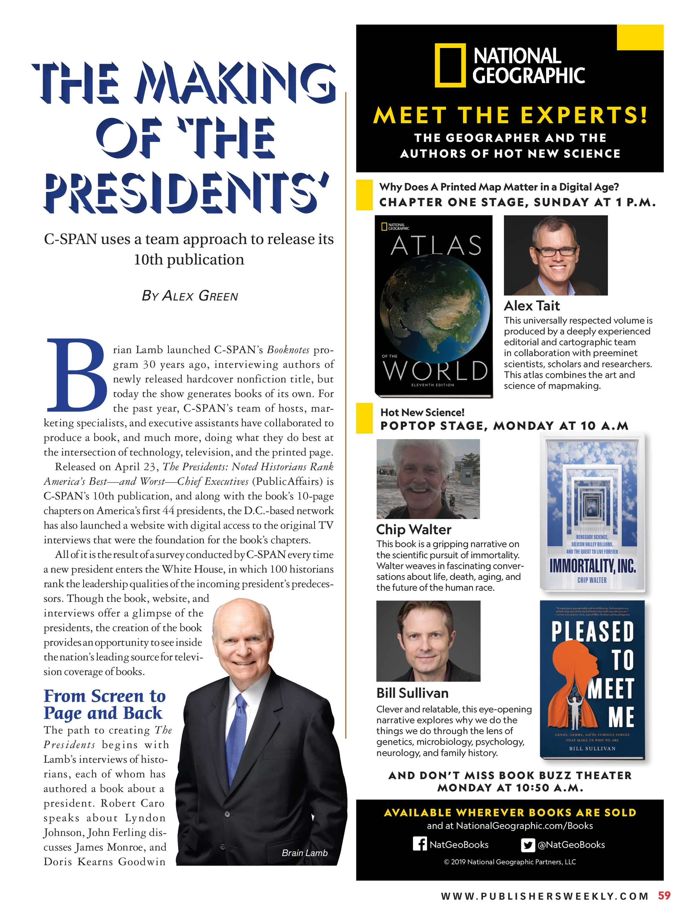 Publishers Weekly - June 10, 2019 - page 59