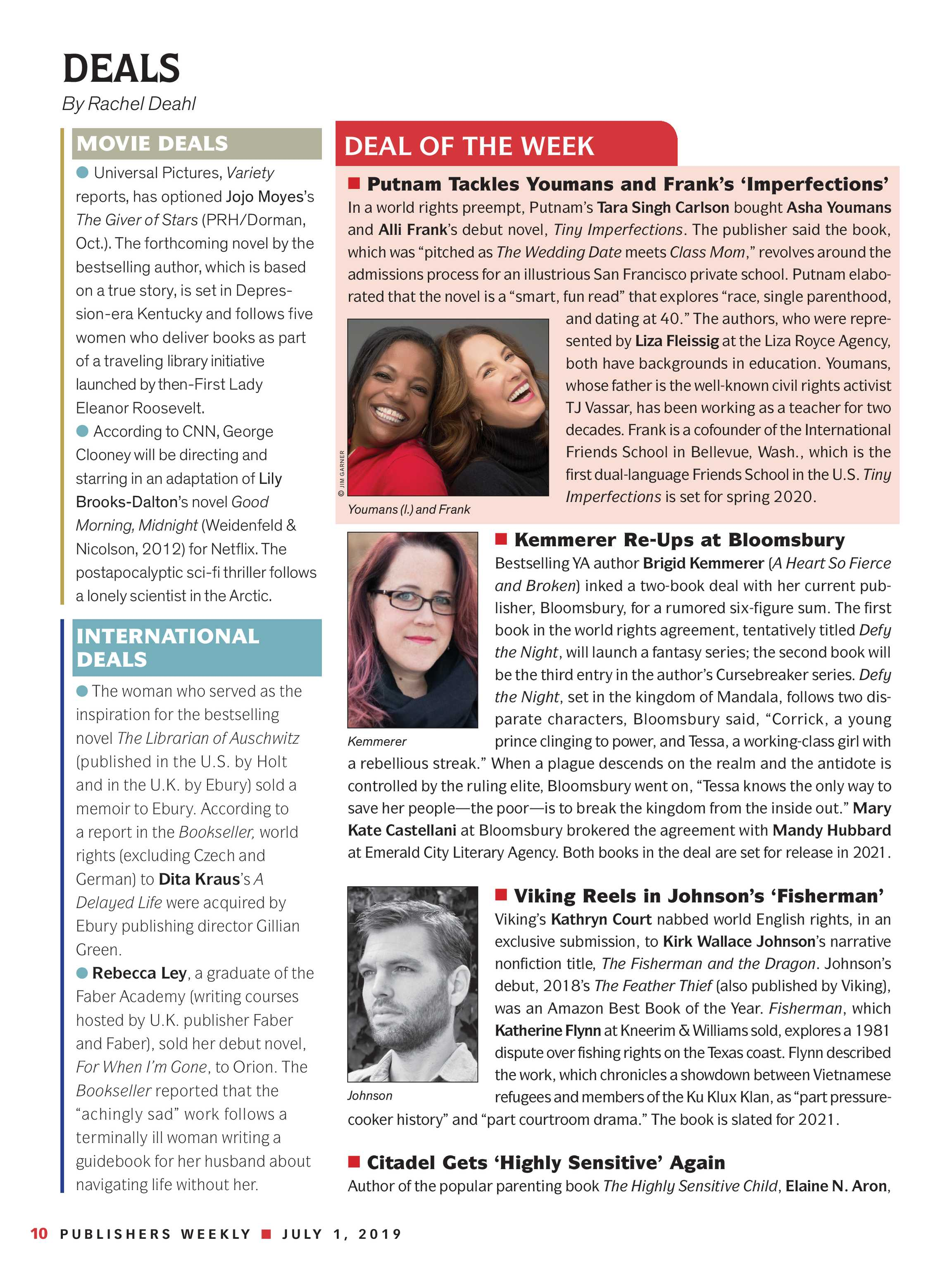Publishers Weekly - July 1, 2019 - page 10