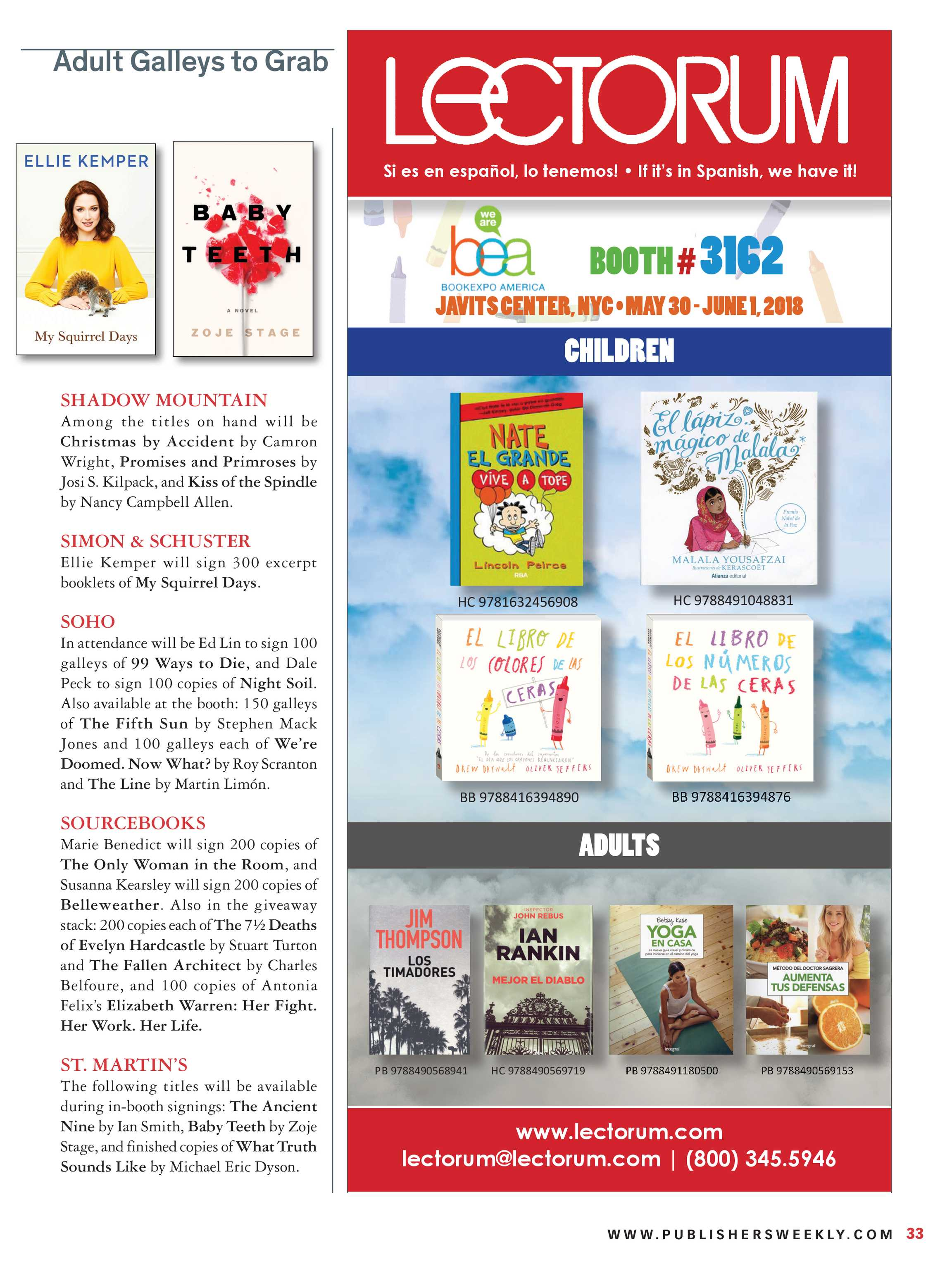 Publishers Weekly - BookExpo Preview 2018 - page 33