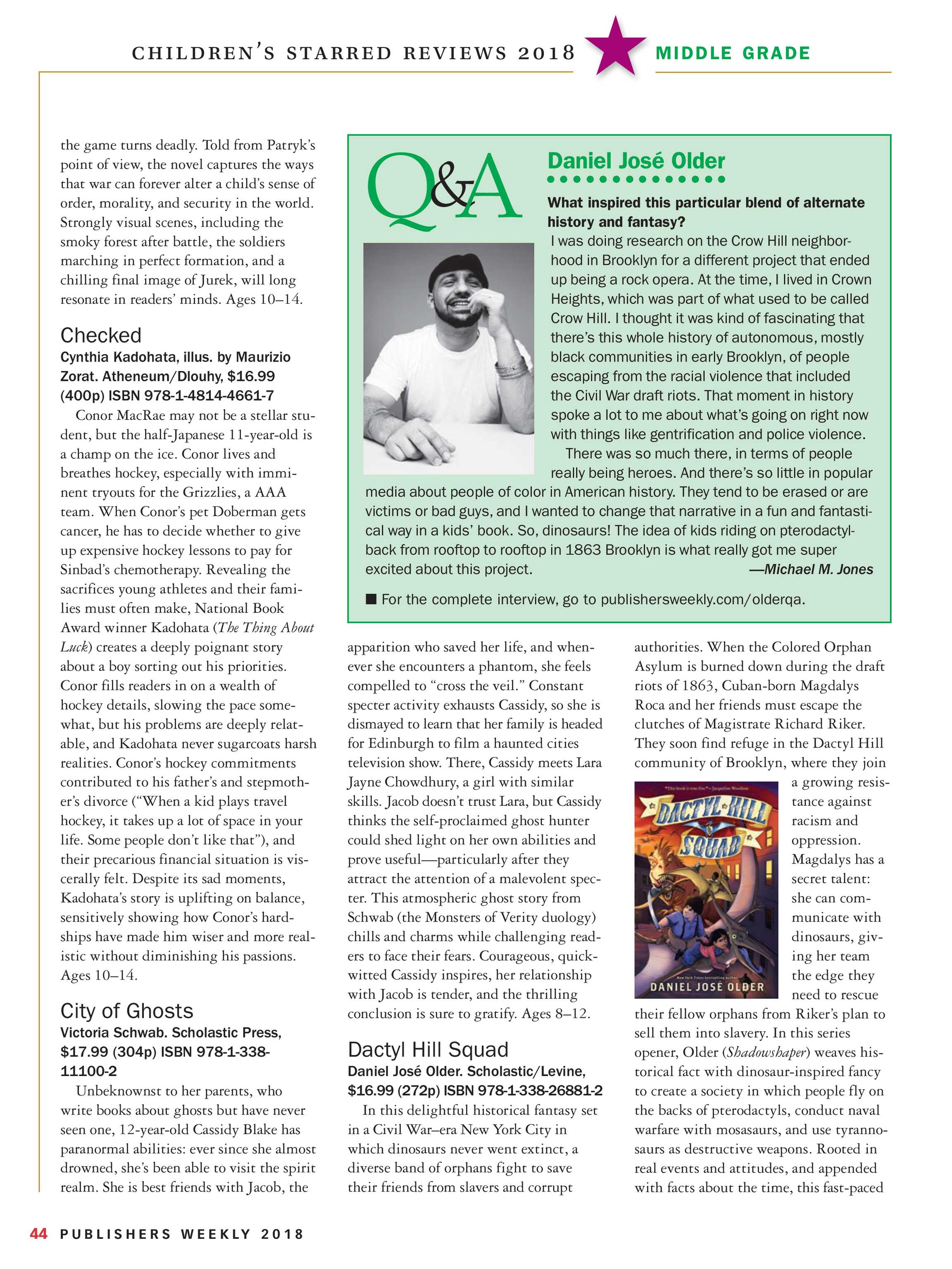 Publishers Weekly - Children's Starred Reviews 2018 - page 43
