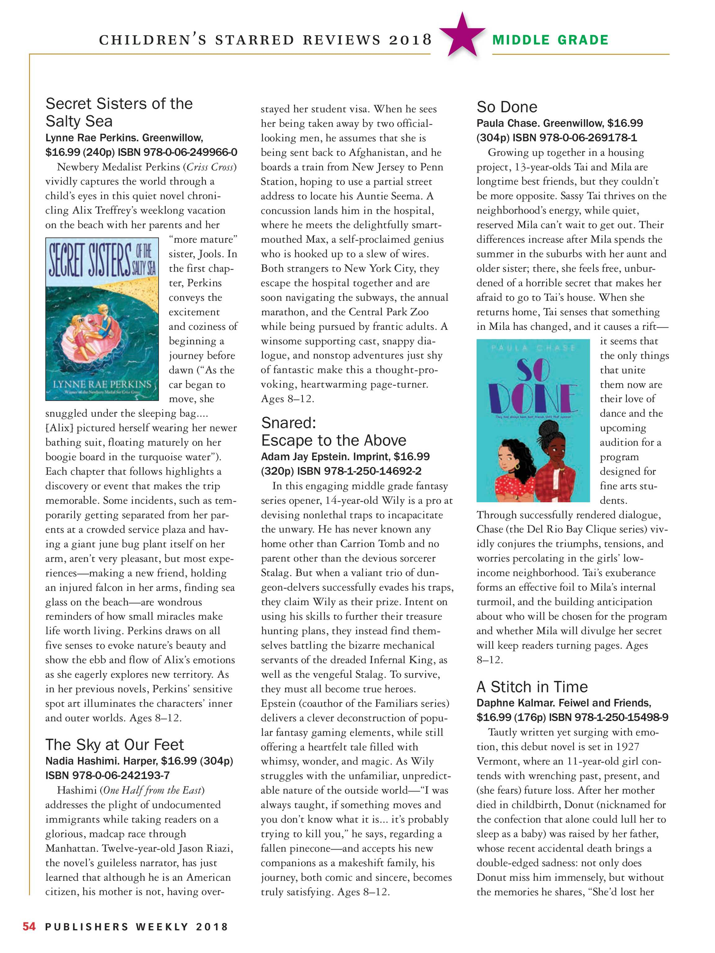 Publishers Weekly - Children's Starred Reviews 2018 - page 55