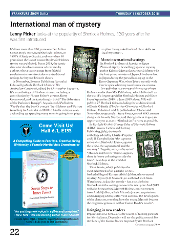 Publishers Weekly Frankfurt Show Daily October 11 2018 Page 22