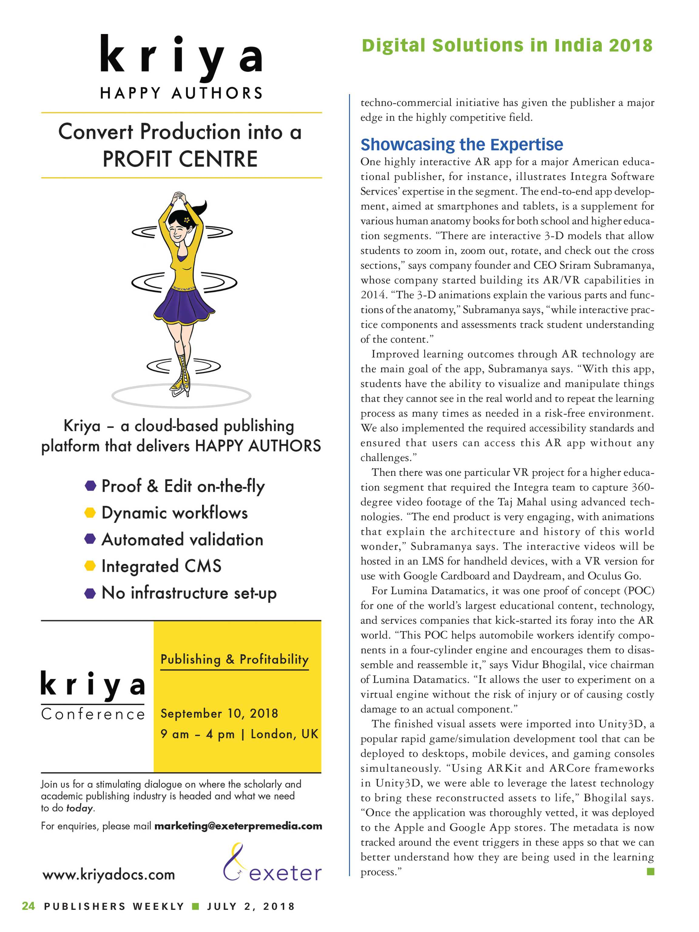 Publishers Weekly - India Supplement 2018 - page 24