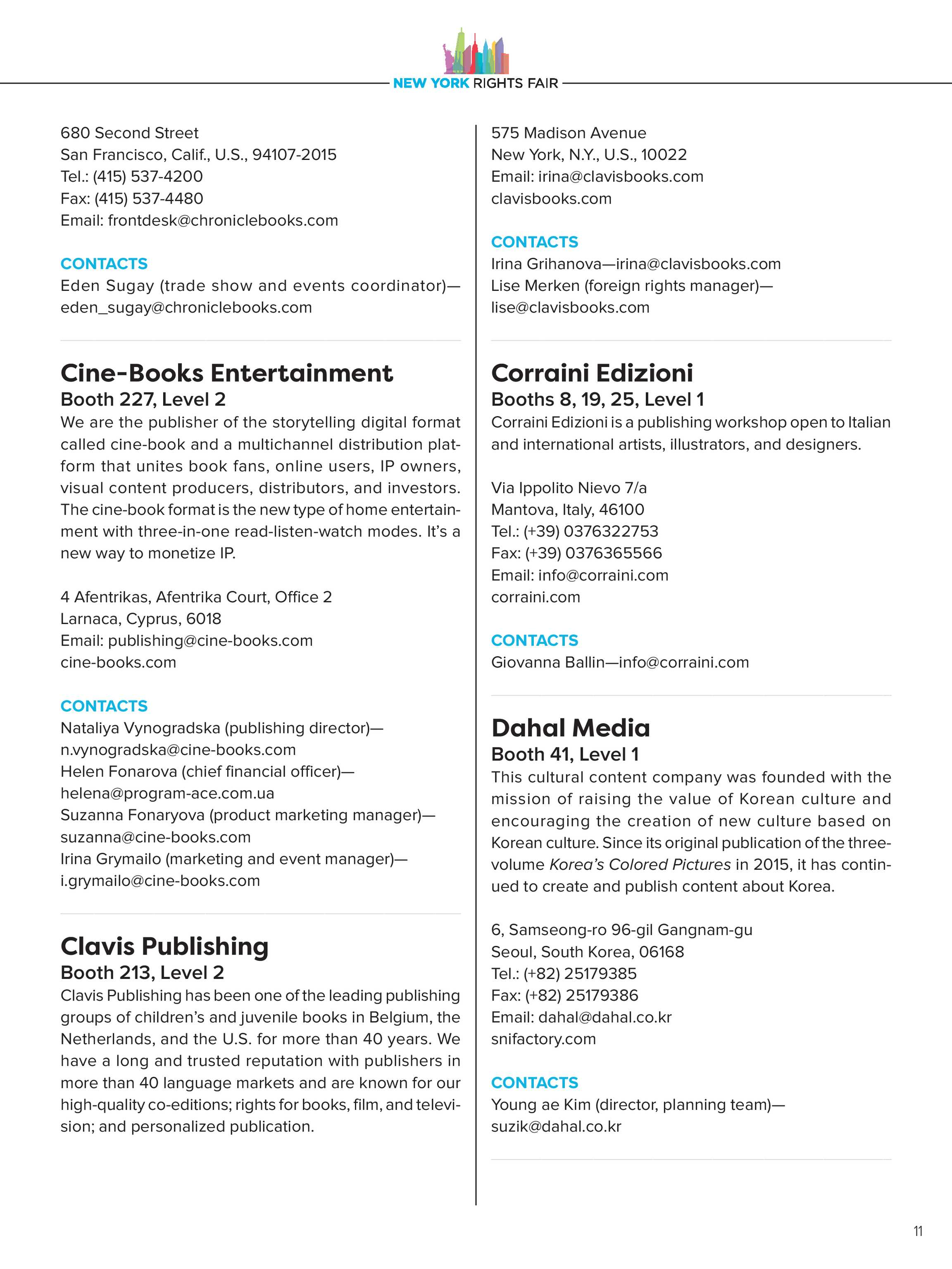 Publishers Weekly - NYRF Directory - page 11