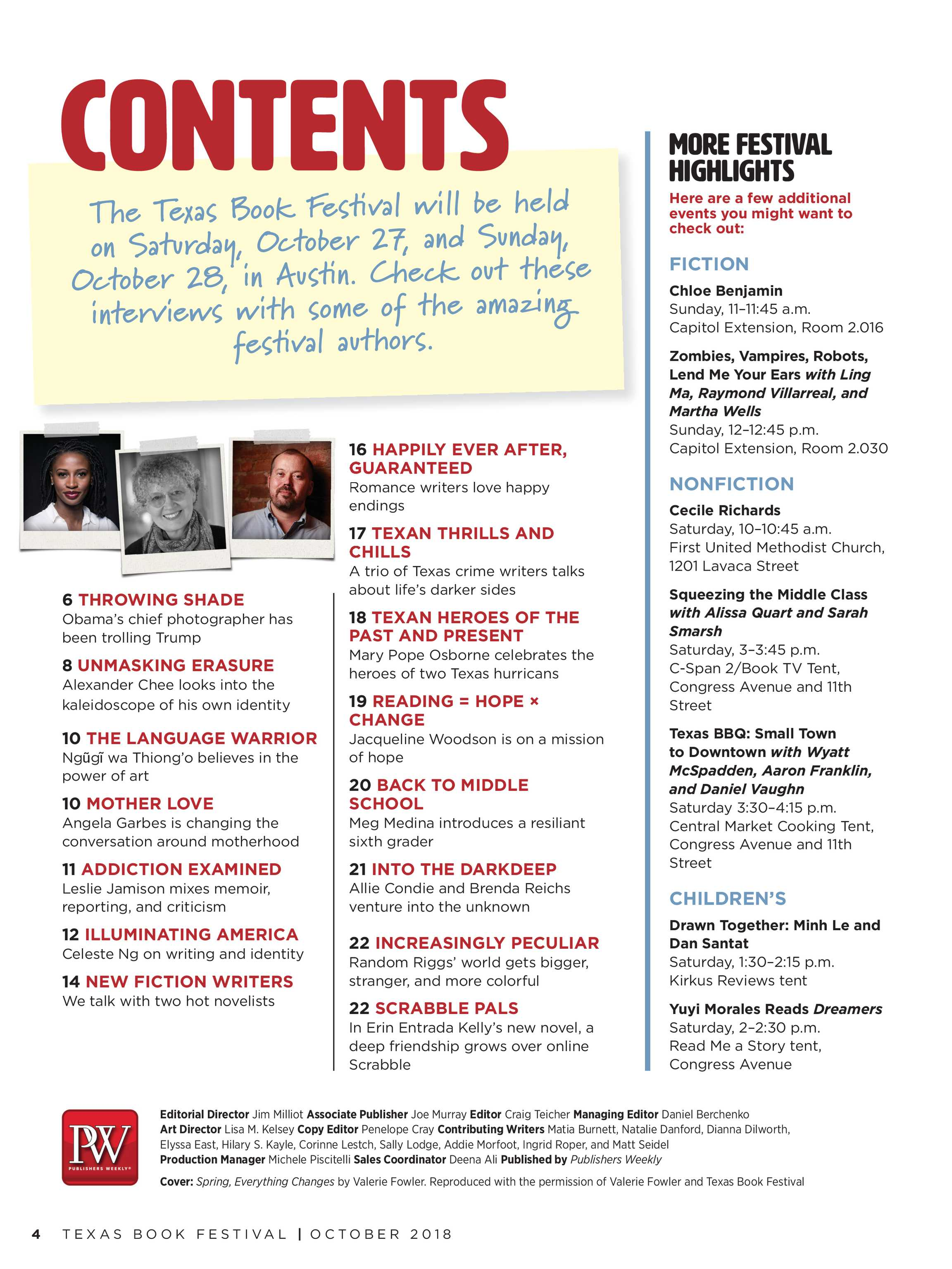 Publishers Weekly - Texas Supplement 2018 - page 4