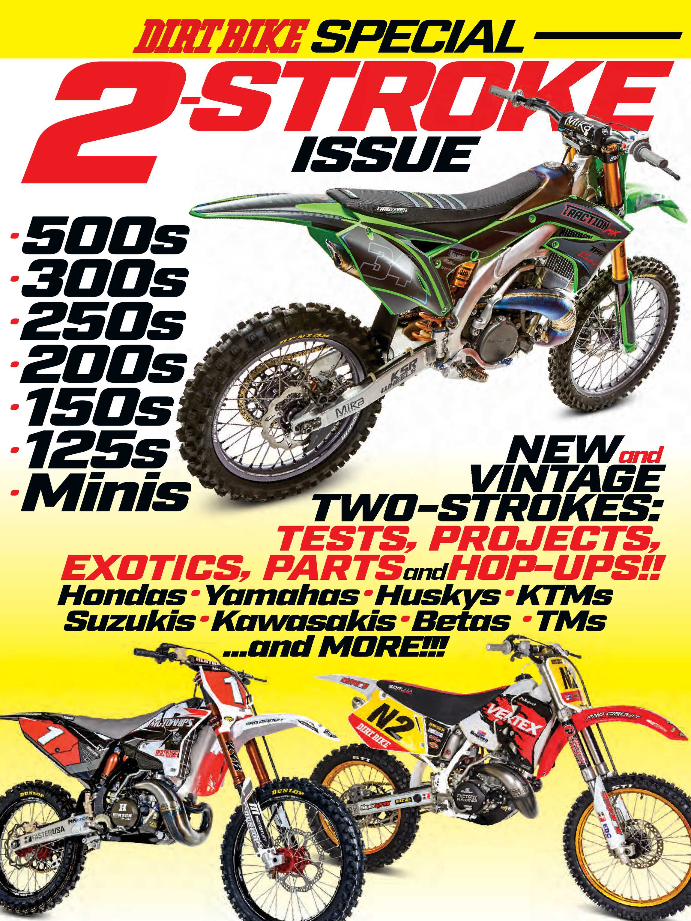 Dirt Bike Magazine - 2-STROKES New and Old - page Cover